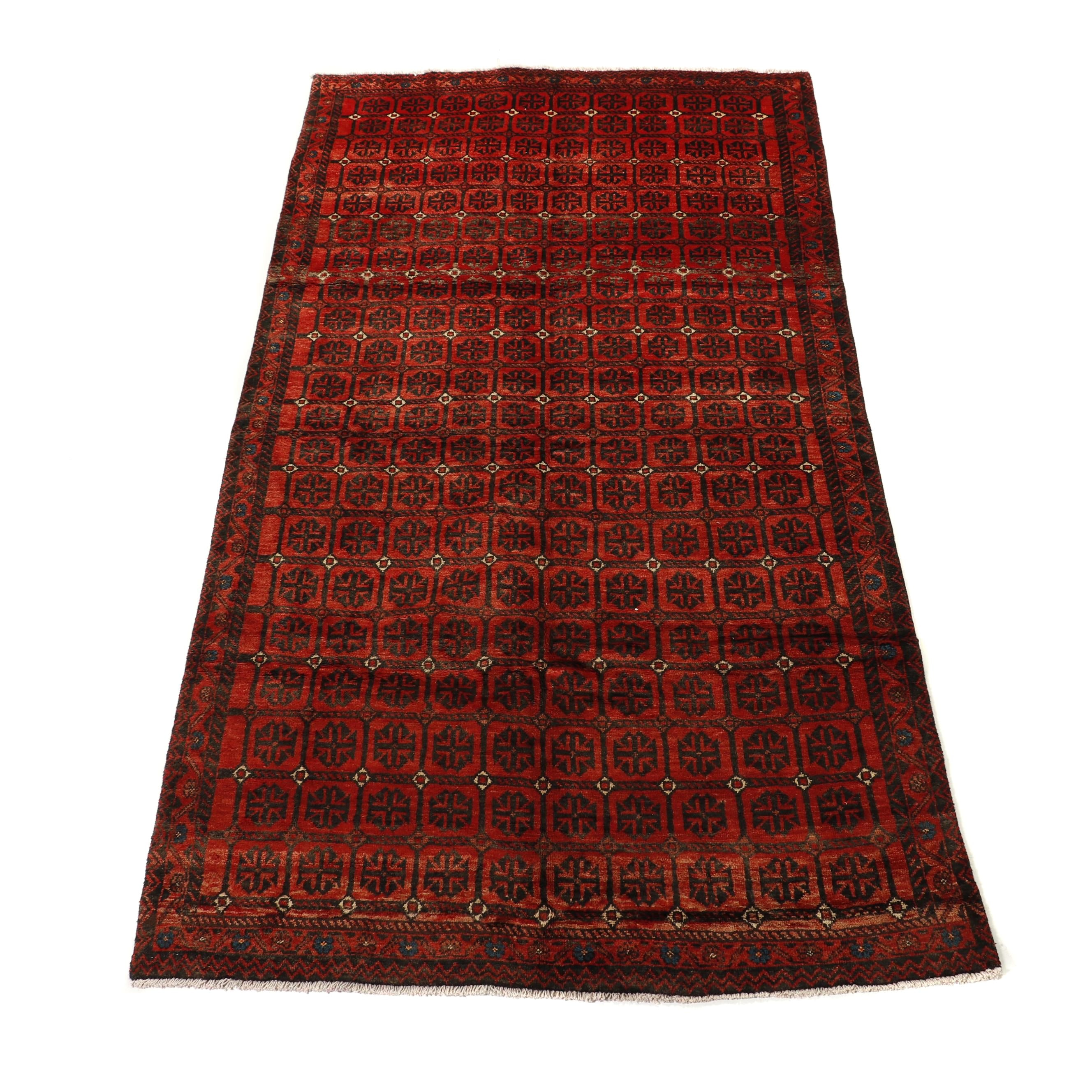 Hand-Knotted Persian Kurd Wool Long Rug