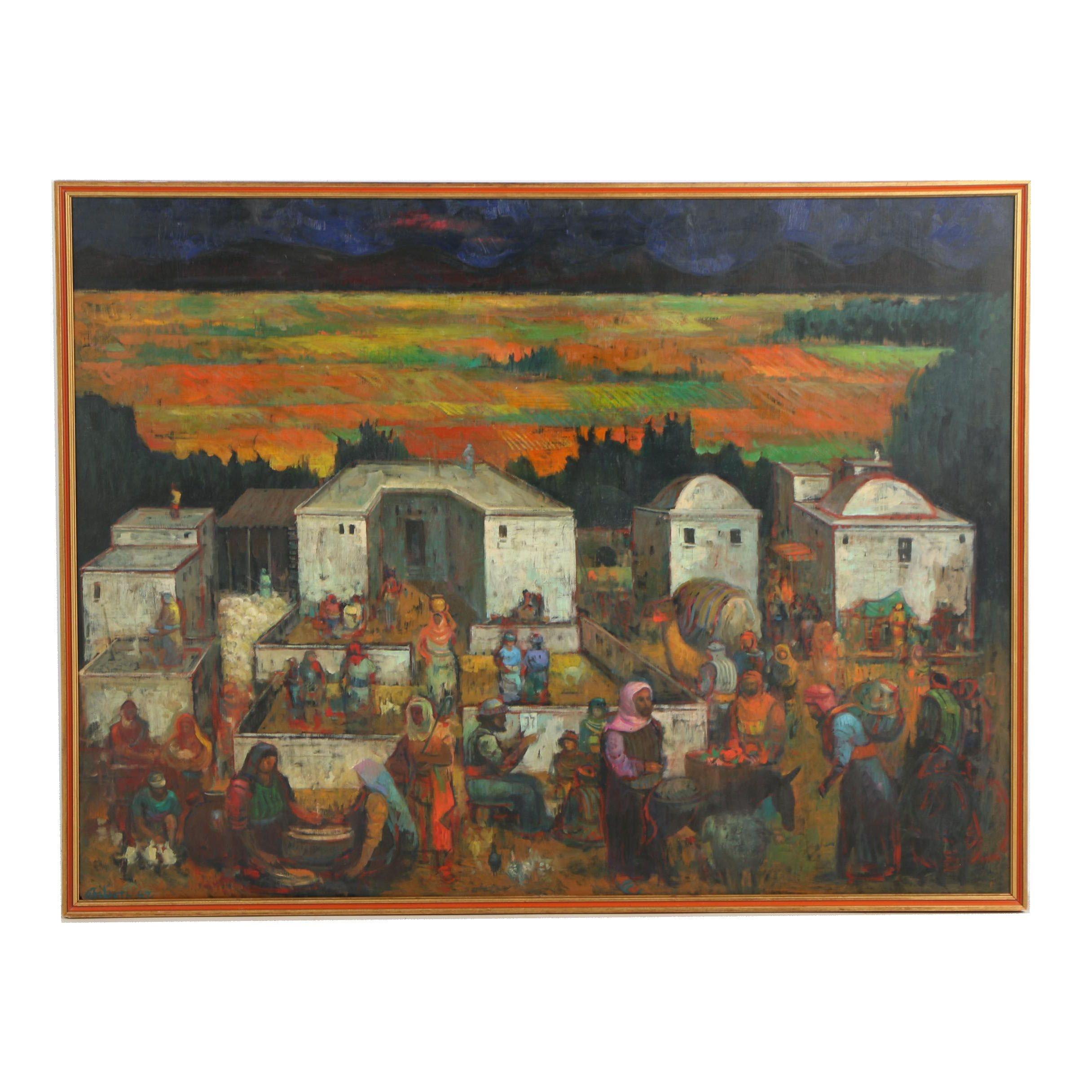 Ted Gilien Genre Scene Oil Painting