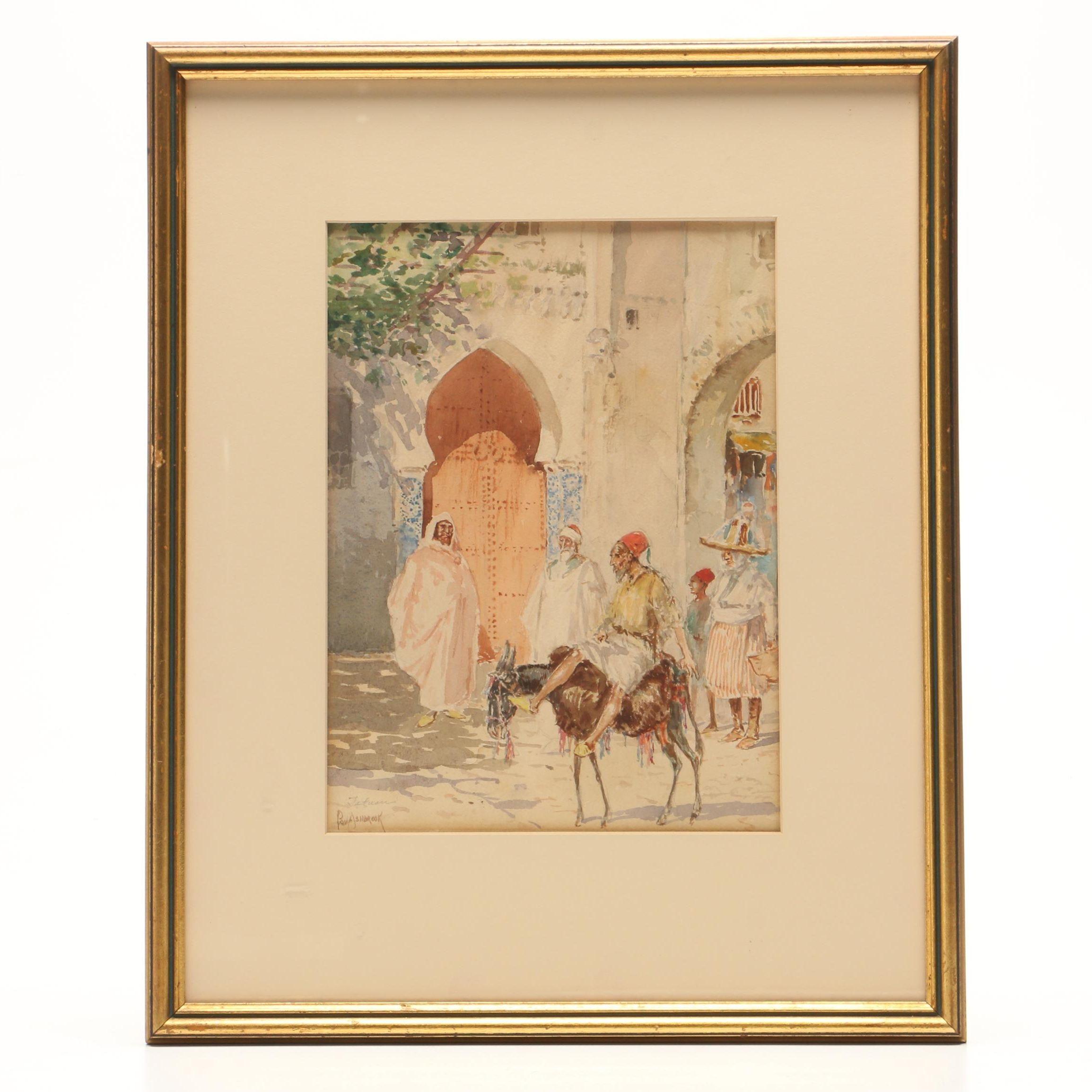 """Paul Ashbrook Watercolor Painting """"Tetuan"""""""