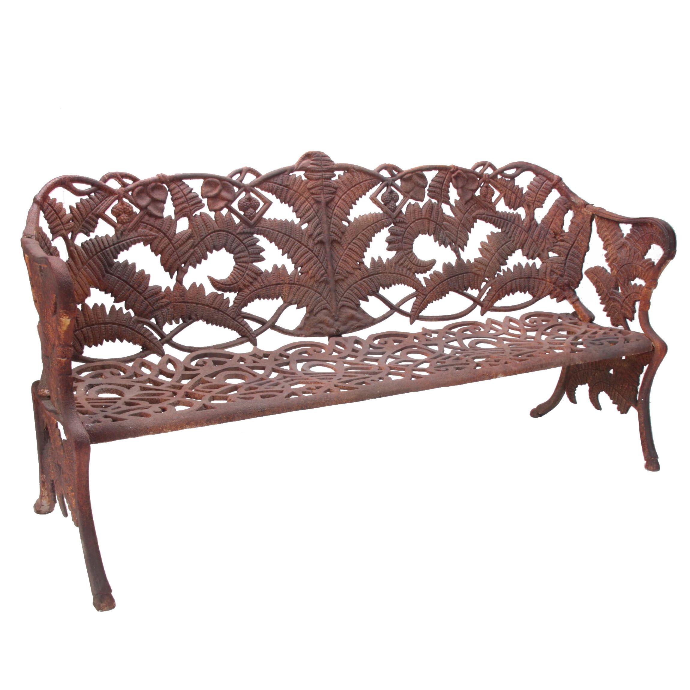 "Victorian Style ""Chatsworth"" Cast Iron Garden Bench"