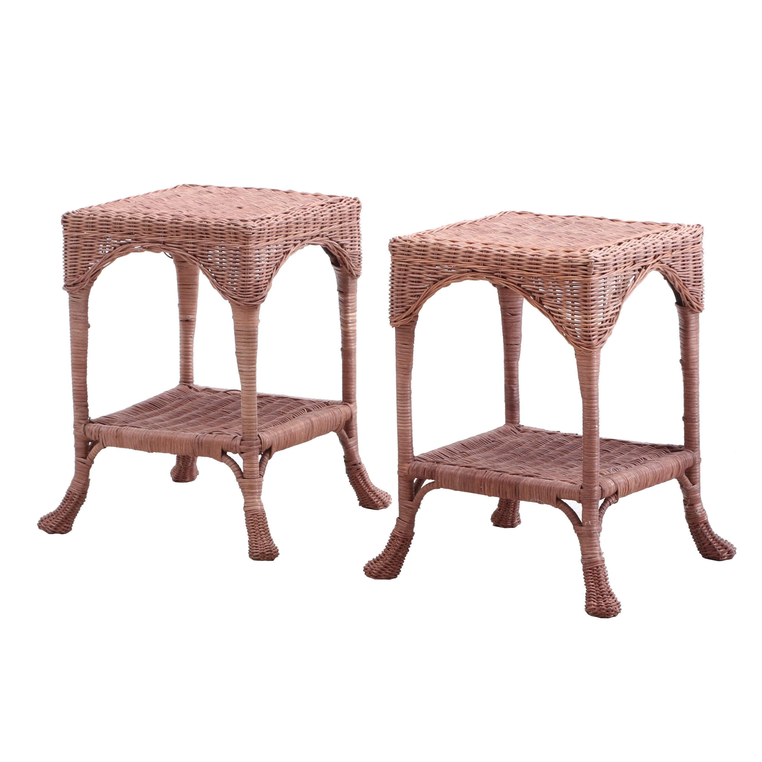 Woven Rattan End Tables