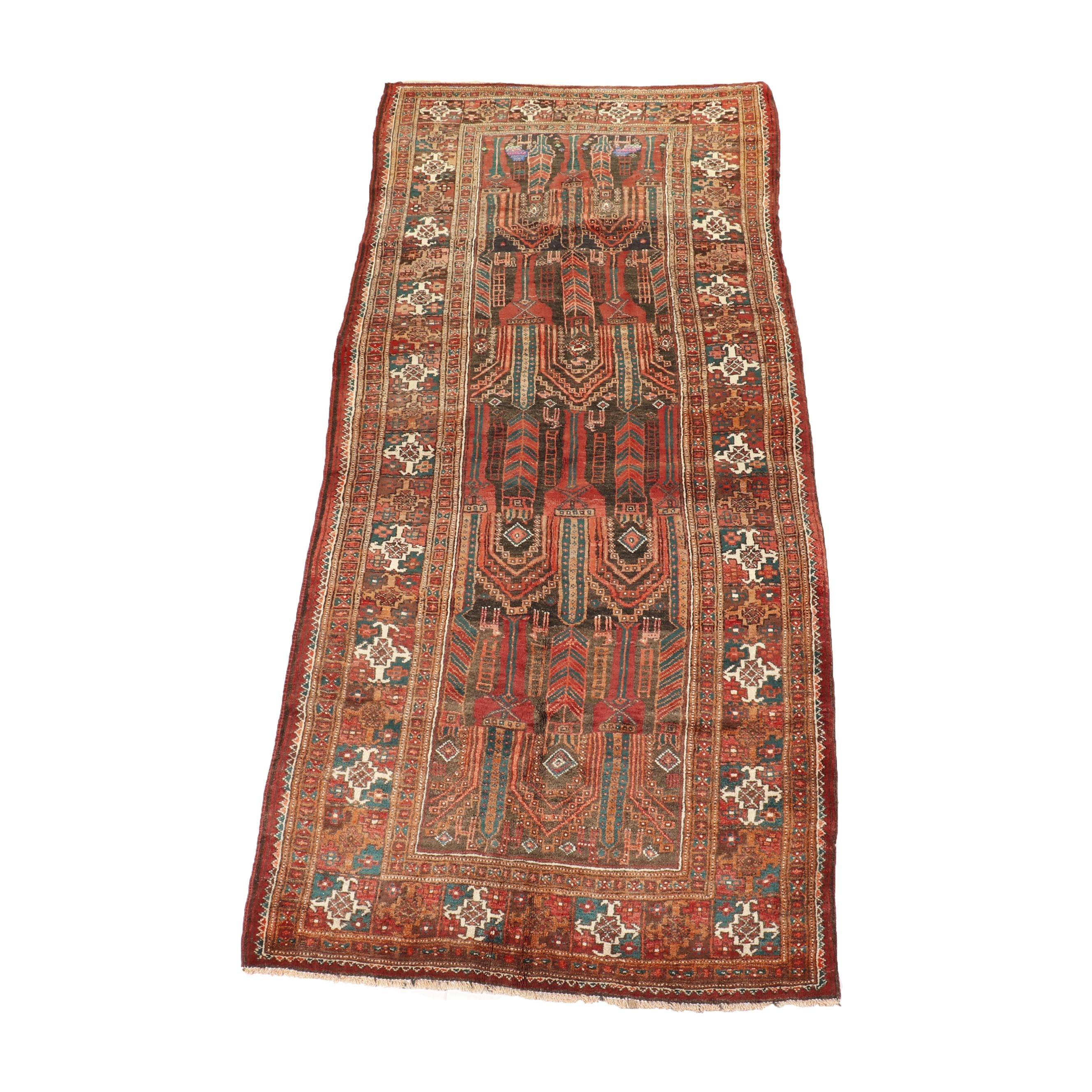 Hand-Knotted Baluchi Zabol Wool Long Rug
