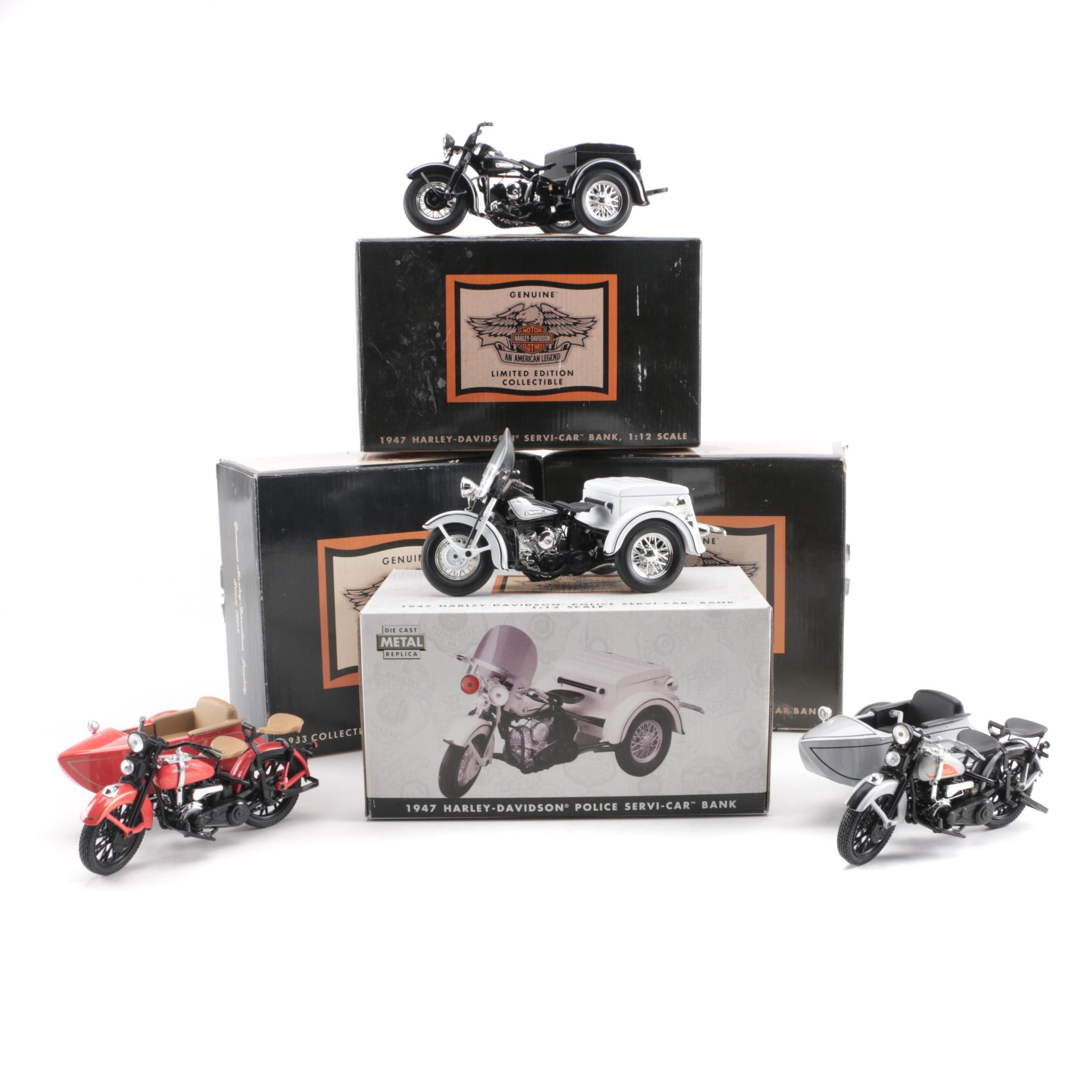 Harley-Davidson Limited Edition Die-Cast Motorcycle Coin Banks