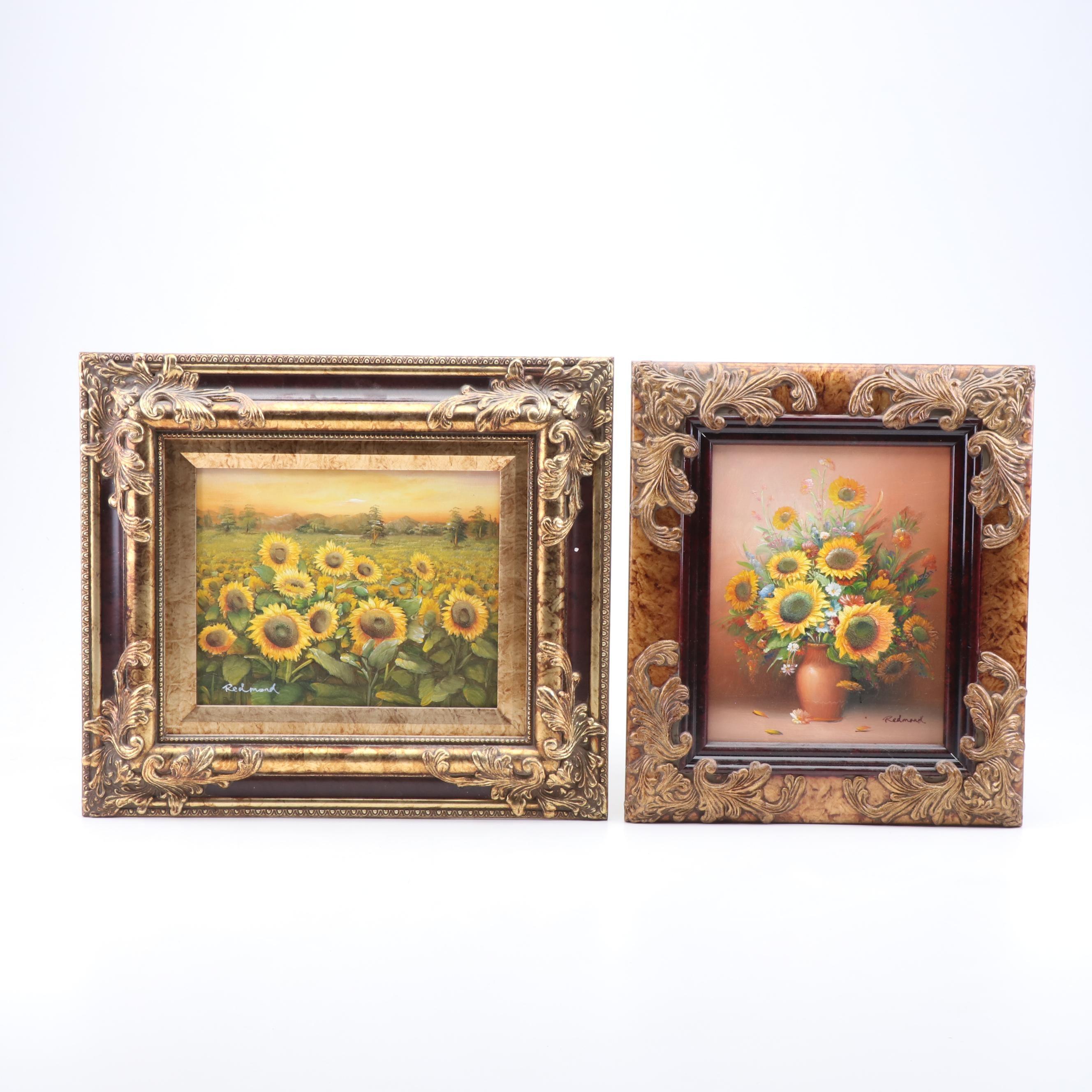 Redmond Still Life Oil Paintings of Sunflowers