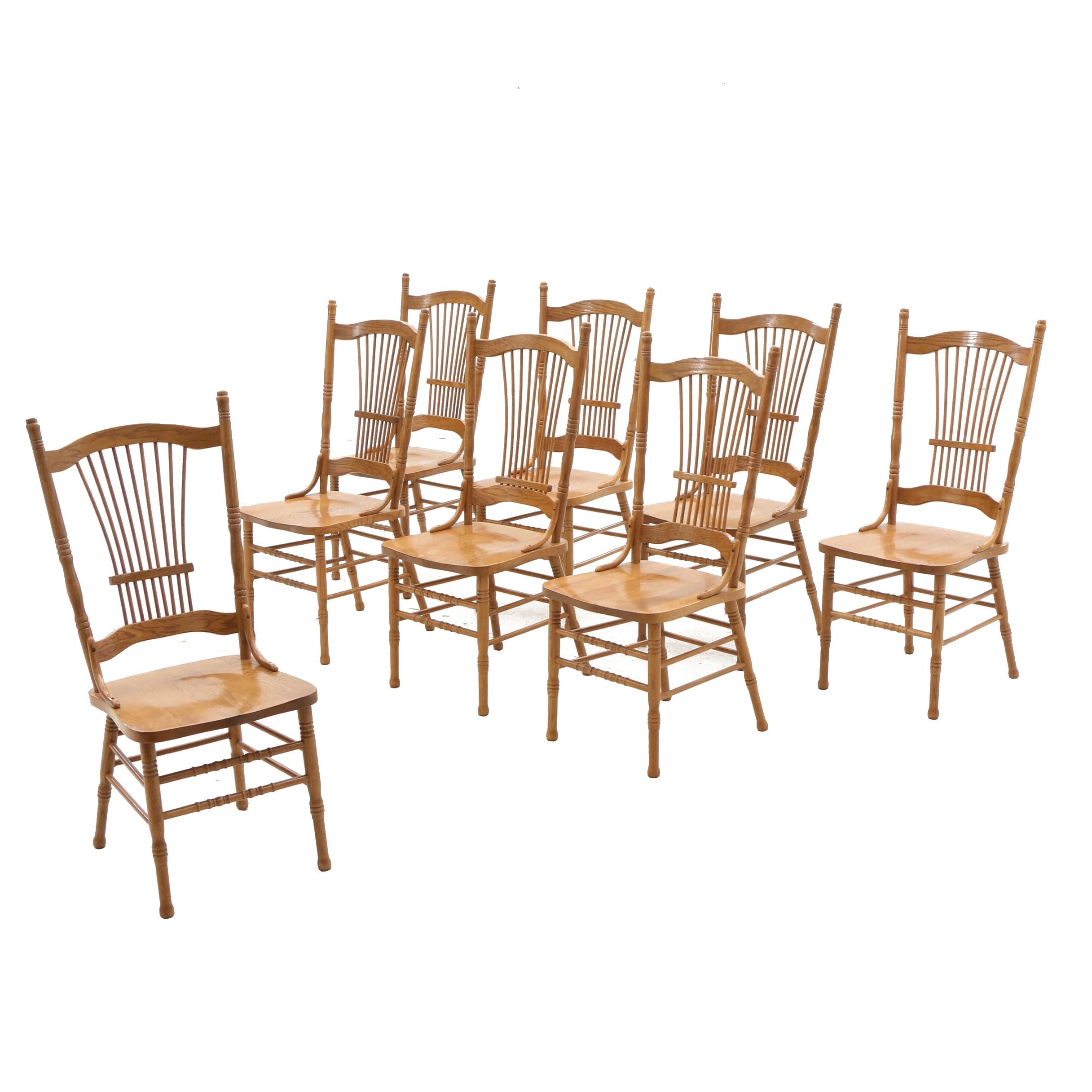 Eight Oak Dining Chairs