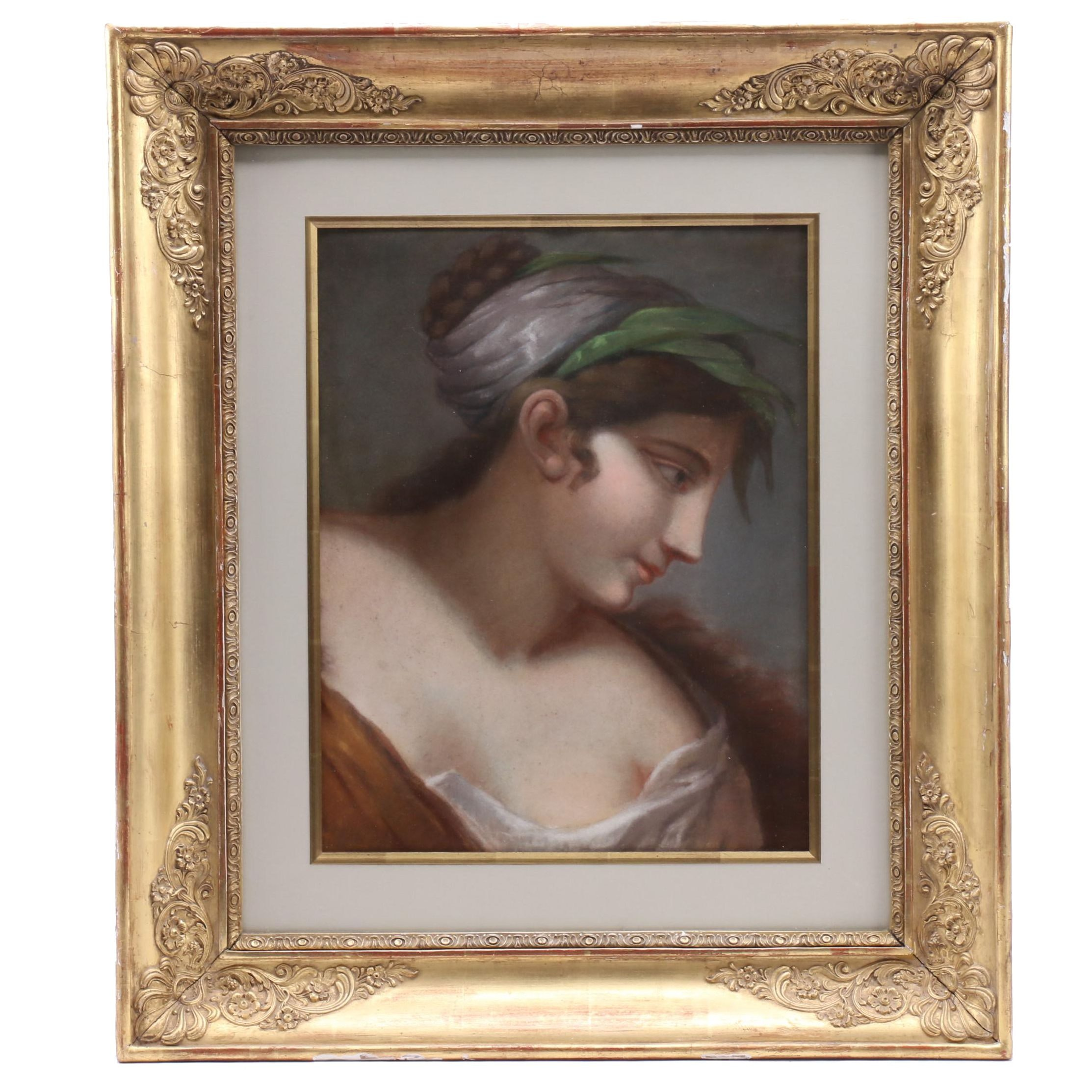 Classical Style Portrait Pastel Drawing