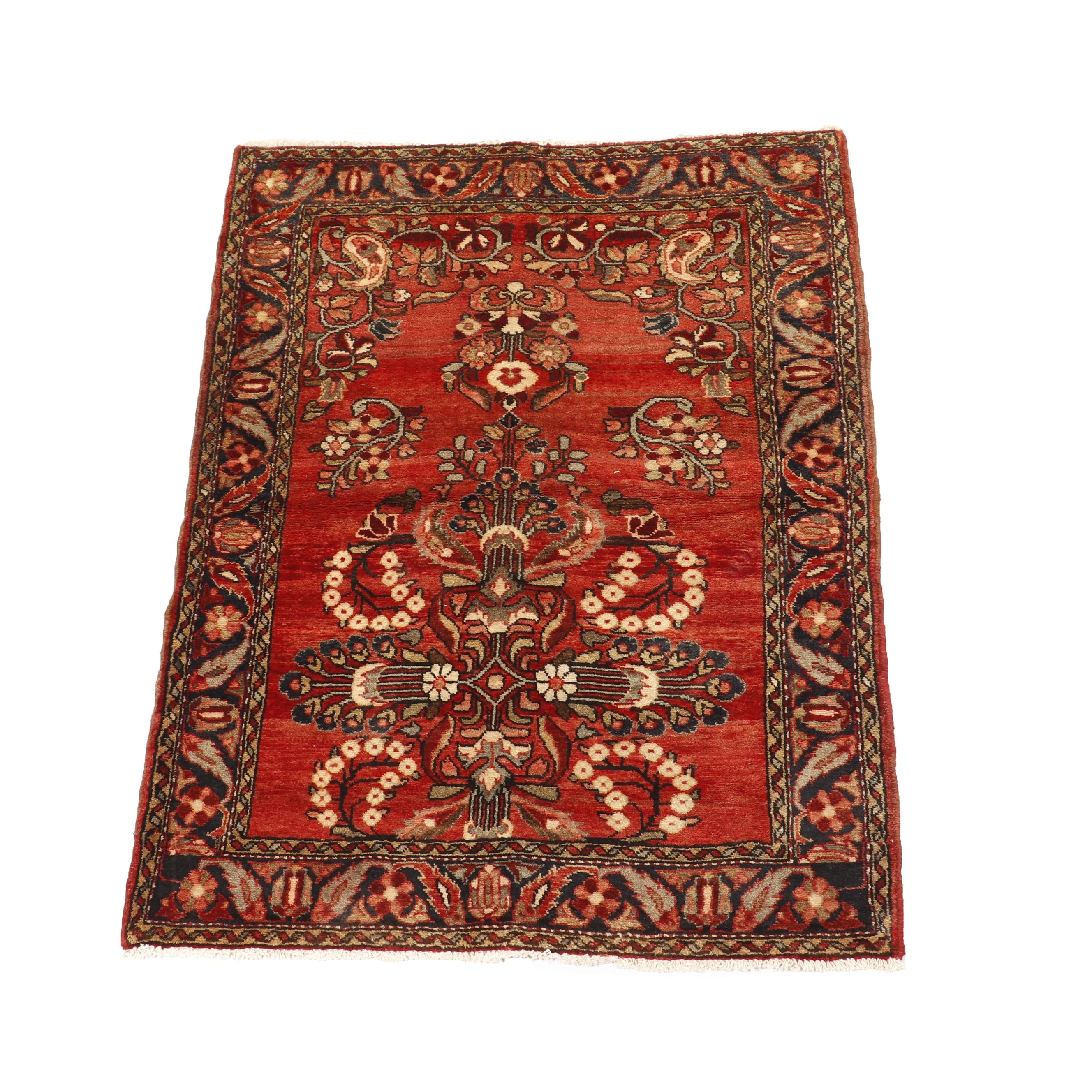 Hand-Knotted Persian Lilian Wool Accent Rug
