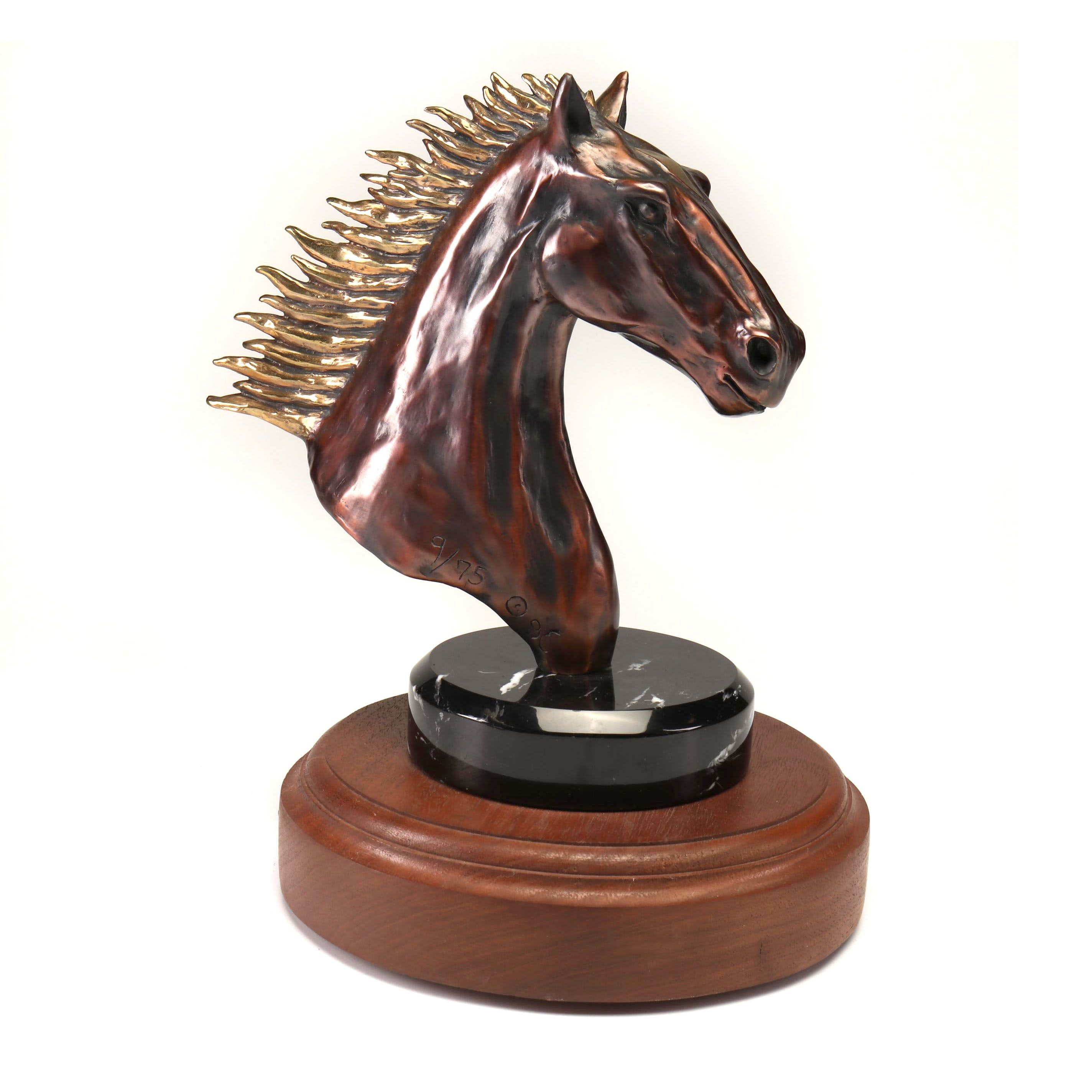 "Marco A. Oviedo Limited Edition Bronze Sculpture ""Free Spirit"""