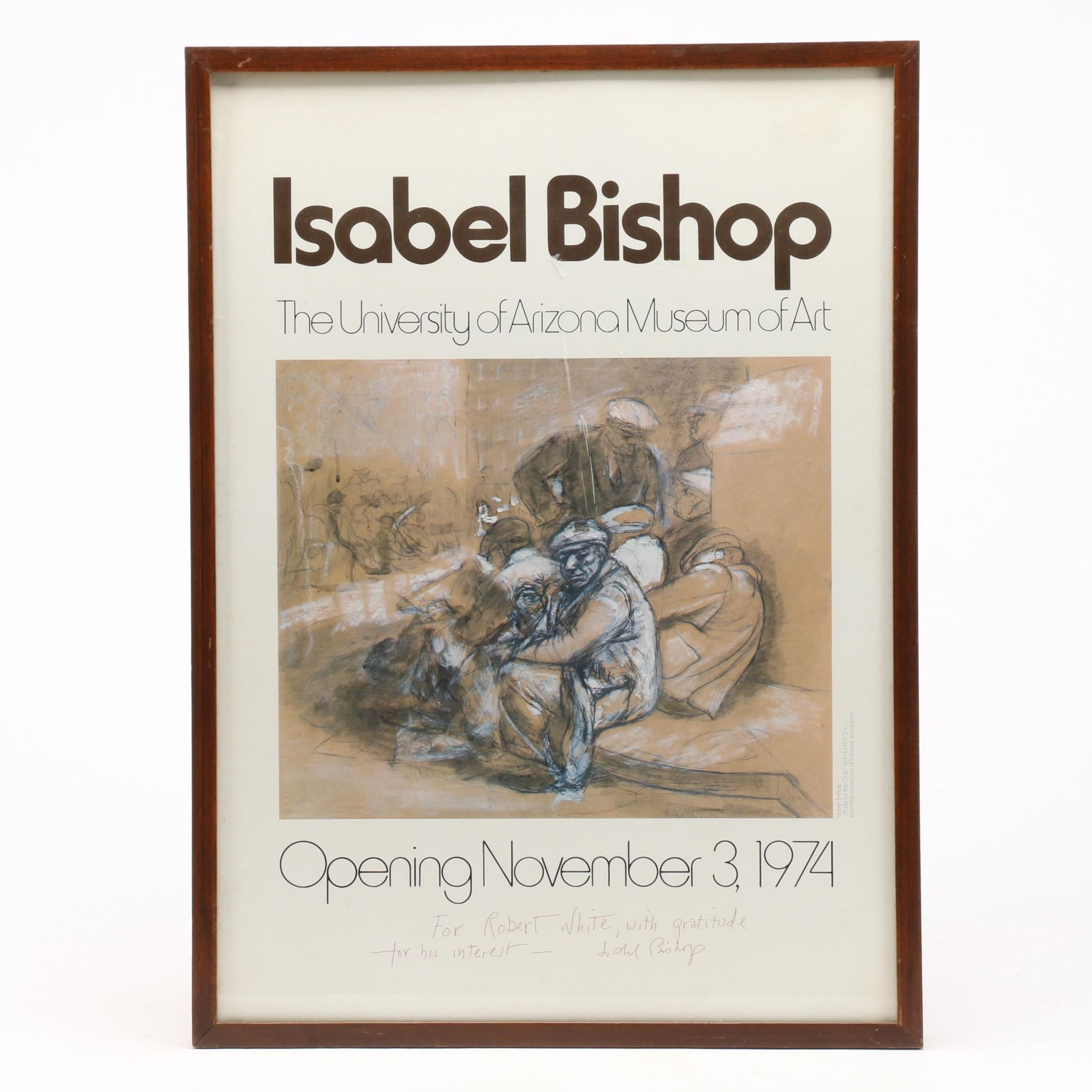 1974 Offset Lithograph Exhibition Poster after Isabel Bishop