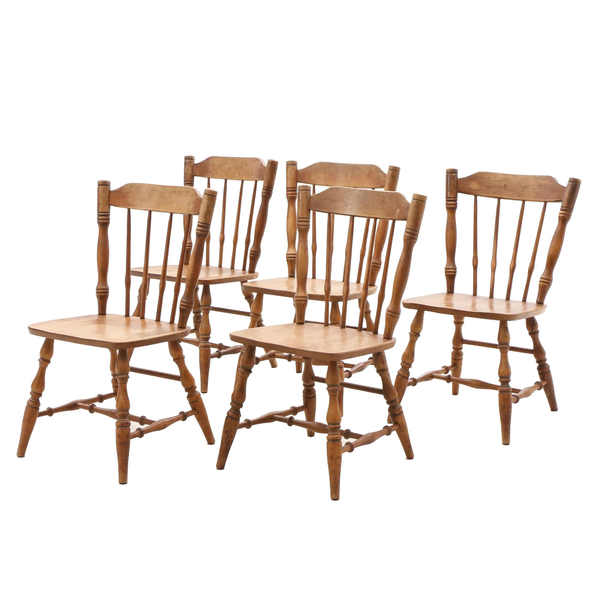 Windsor Style Dining Chairs in Maple