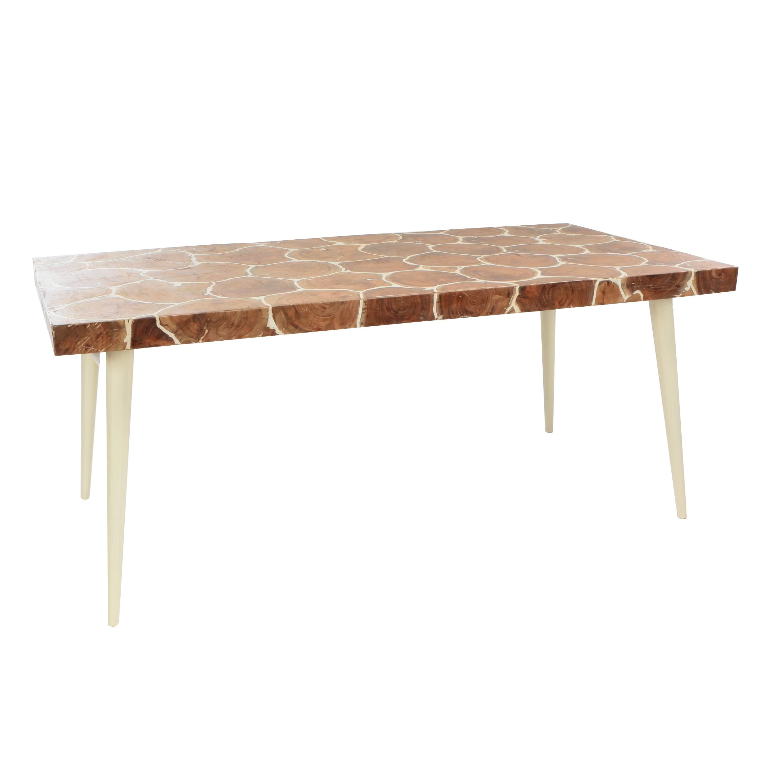 """Organics"" Wood Stump Mosaic Dining Table, Late 20th Century"