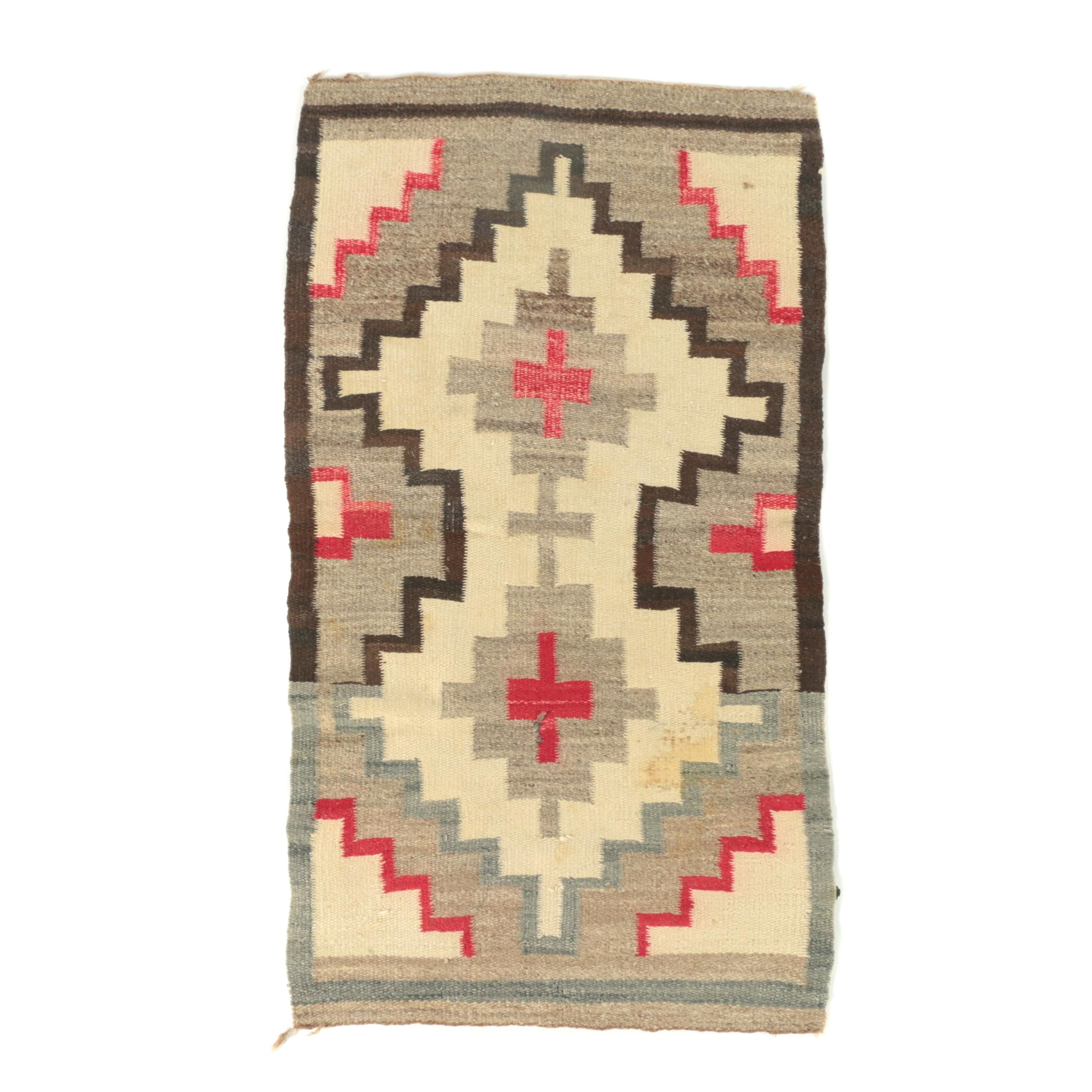 "Handwoven Navajo ""Burnwater""  Wool Area Rug"