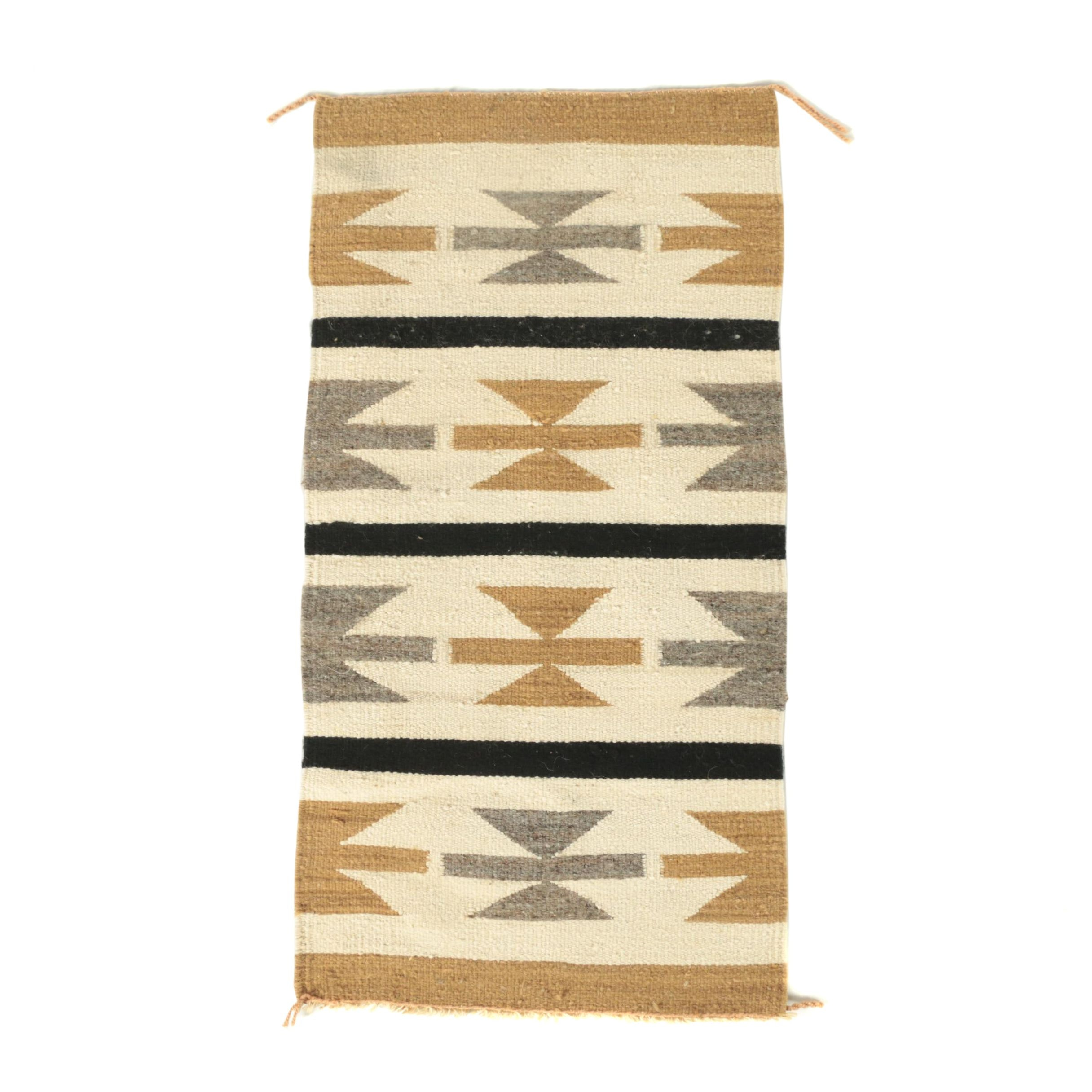 Handwoven Navajo Style Wool Accent Rug