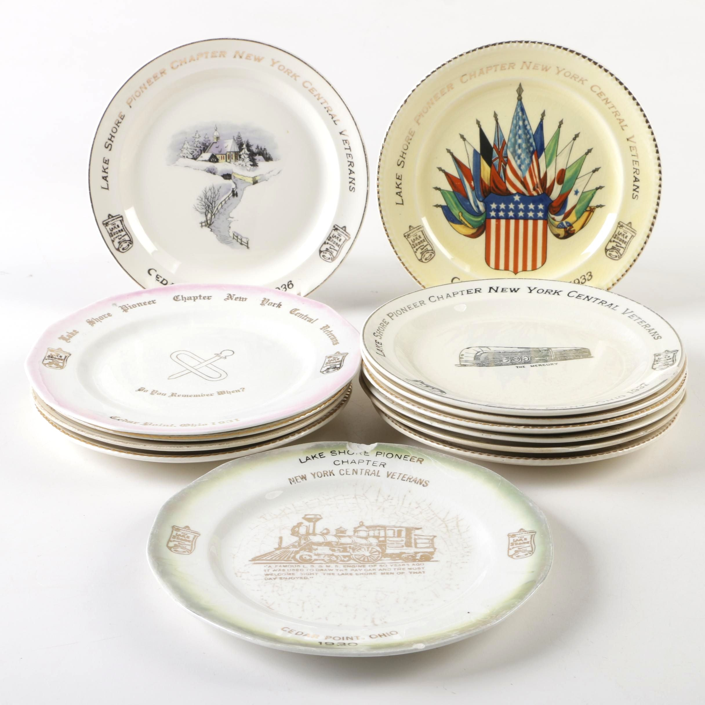 Cedar Point Commemorative Plates including The Sebring Pottery Co.