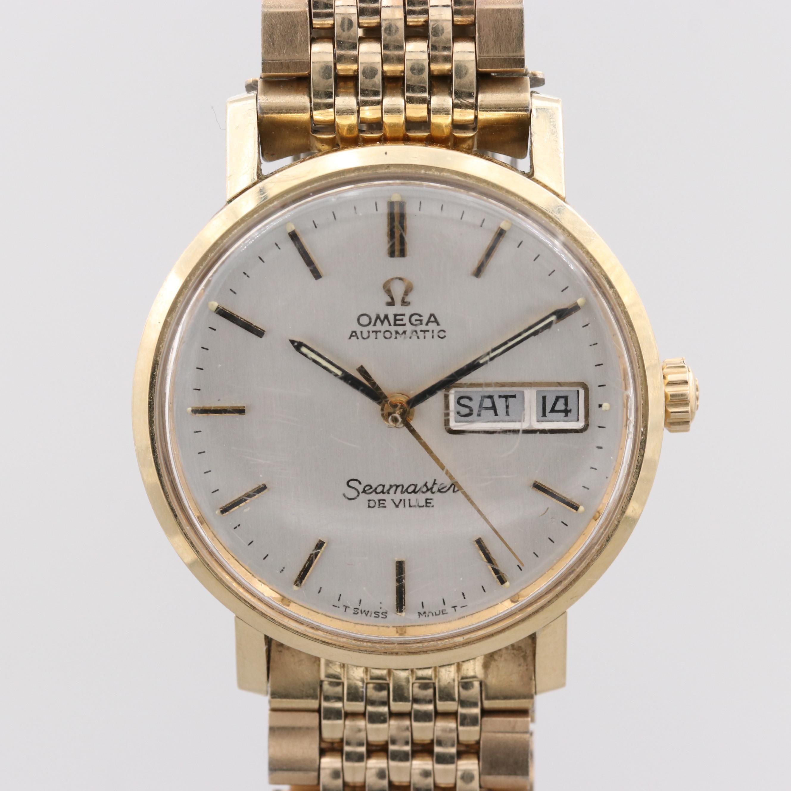 Vintage Omega Seamaster De Ville 14K Yellow Gold Filled Wristwatch
