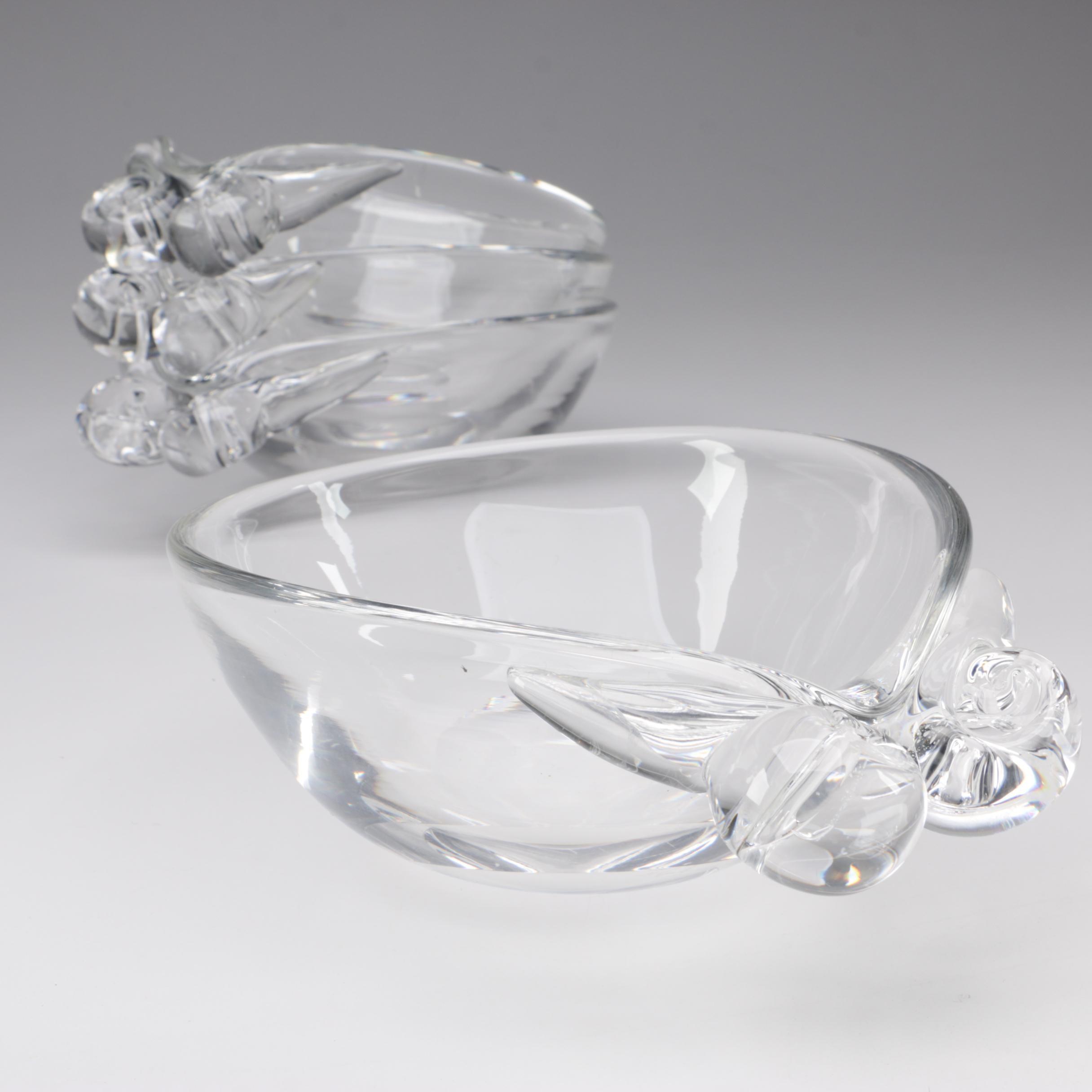 Steuben Art Glass Bonbon Bowls, Mid-Century