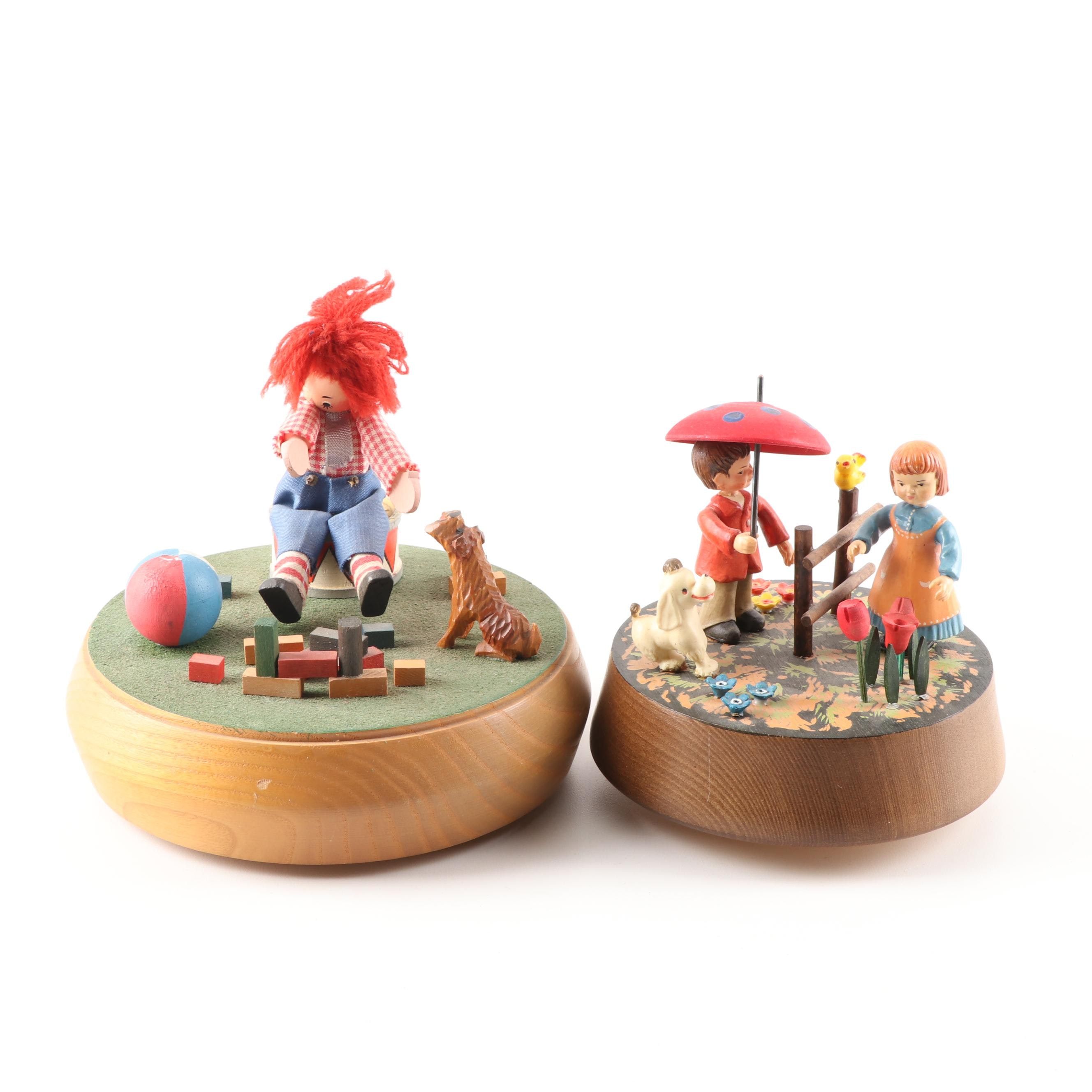 Vintage Music Boxes by Anri