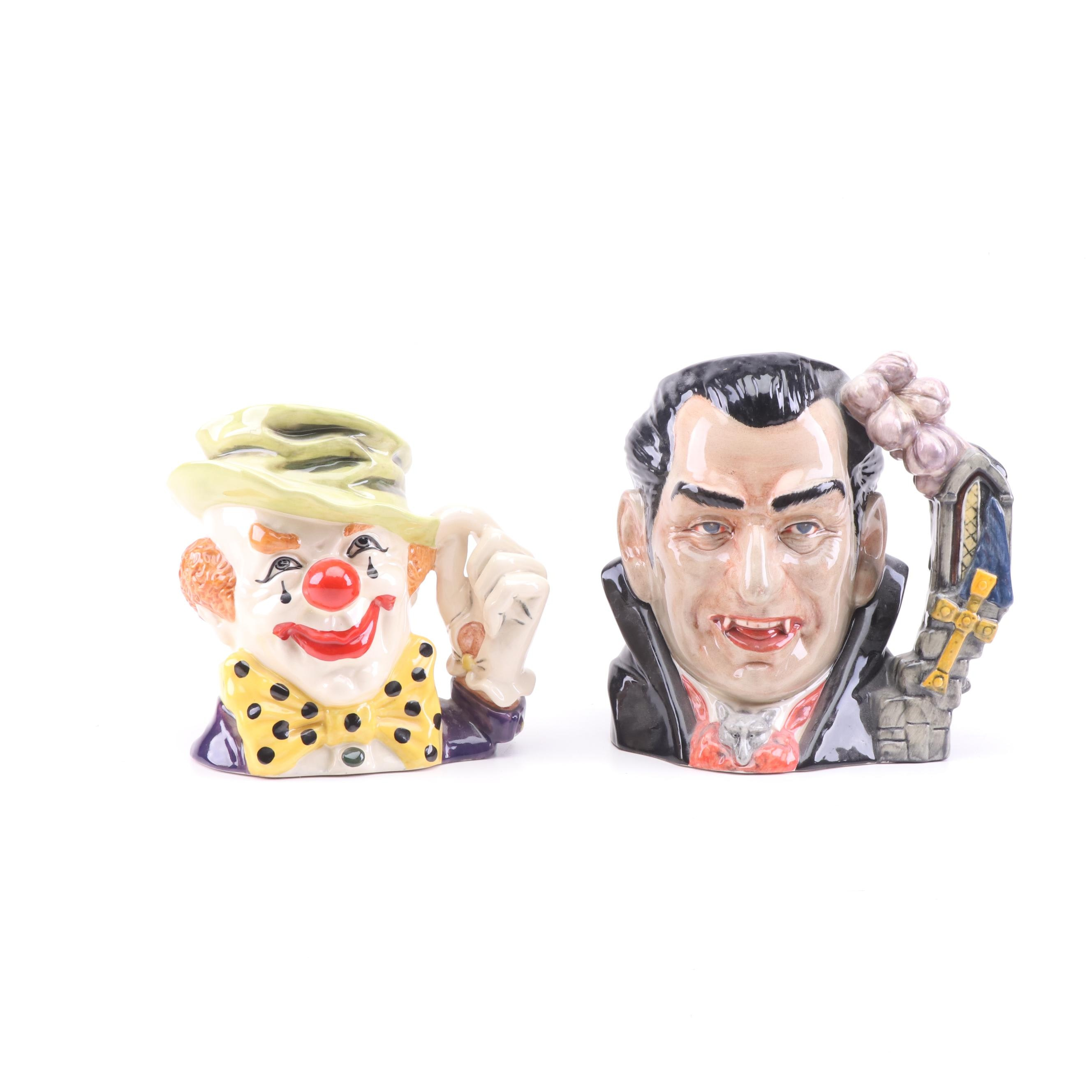 """Royal Doulton """"The Clown"""" and """"Count Dracula"""""""