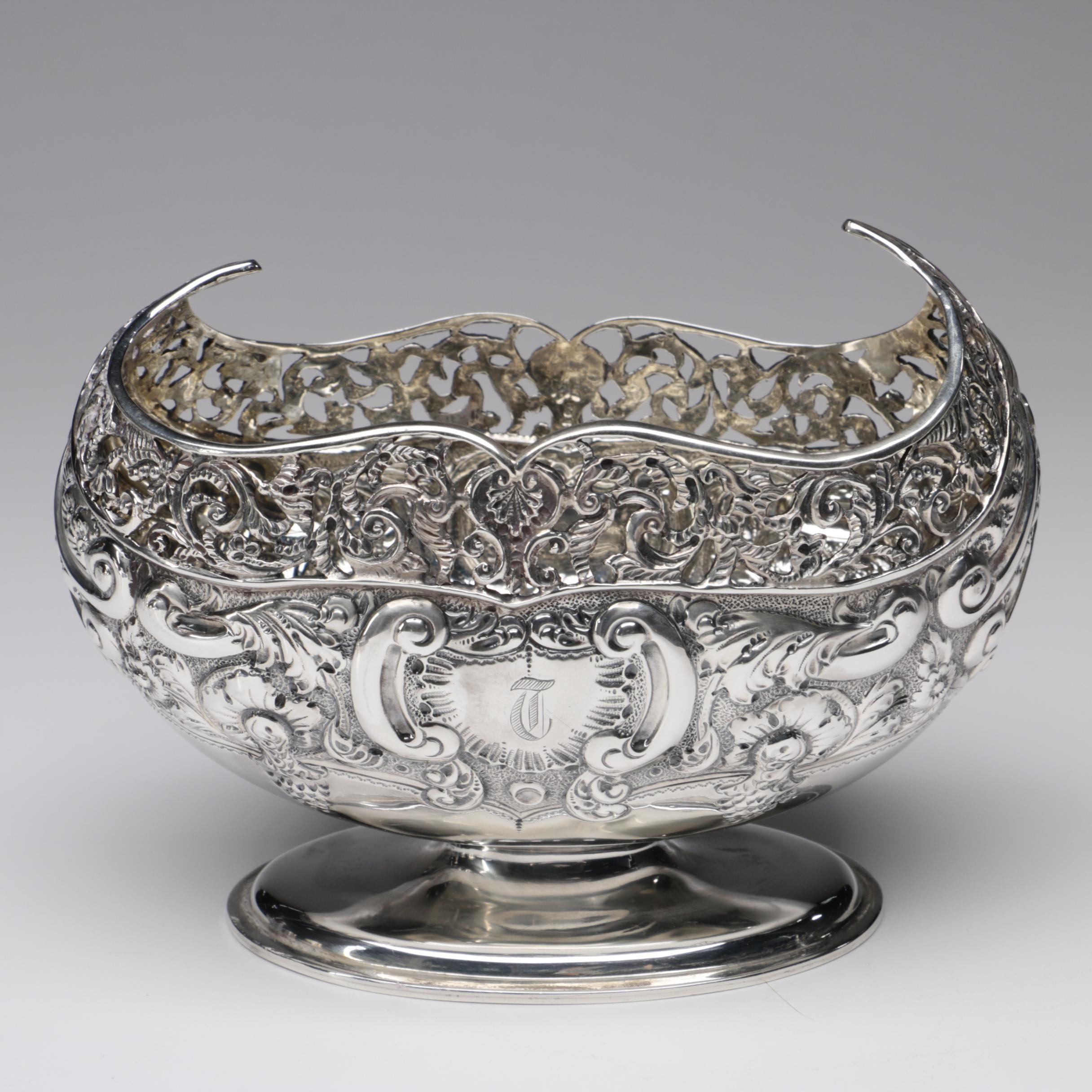 Josiah Williams & Co Sterling Silver Centerpiece, 1903