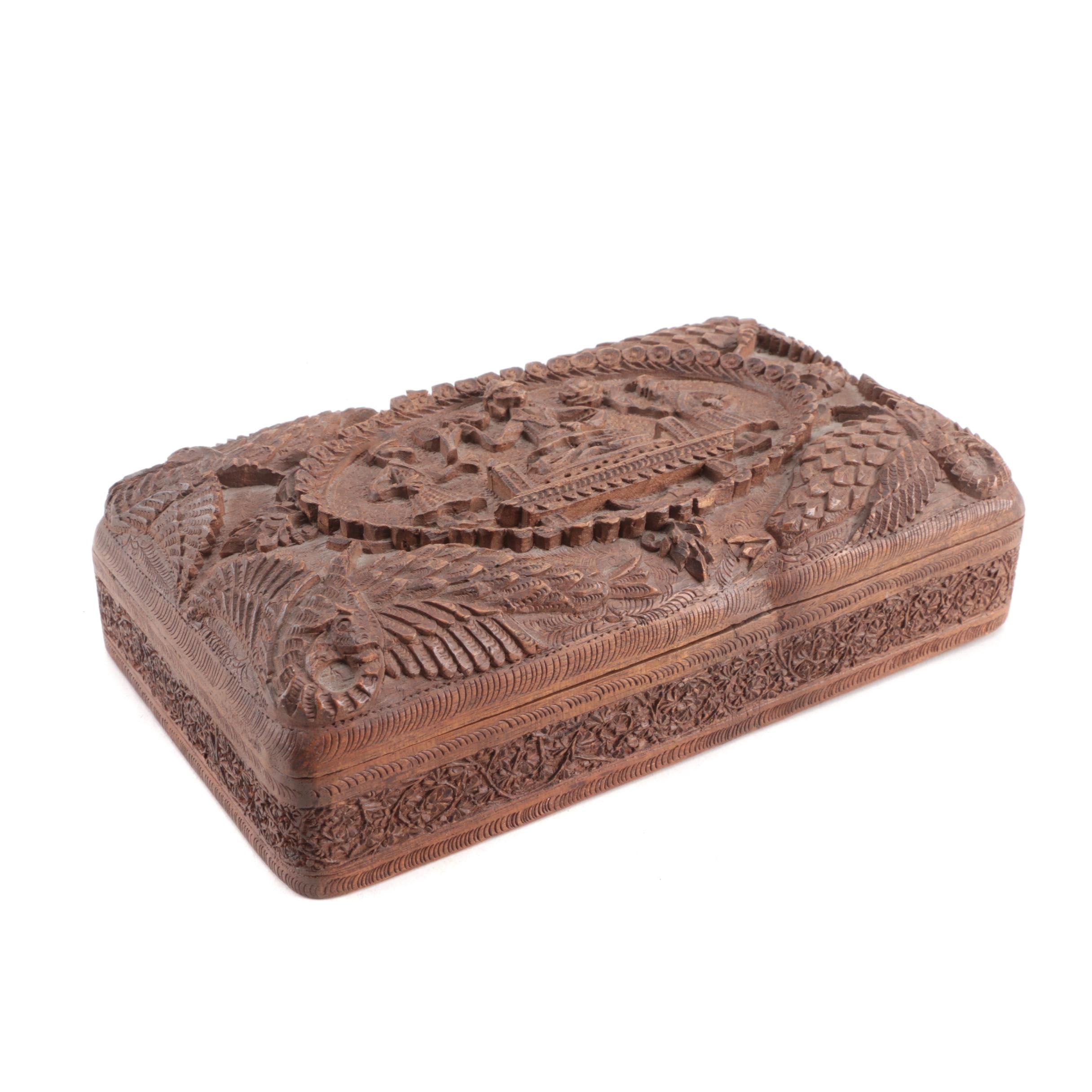 Carved Wooden Decorative Box
