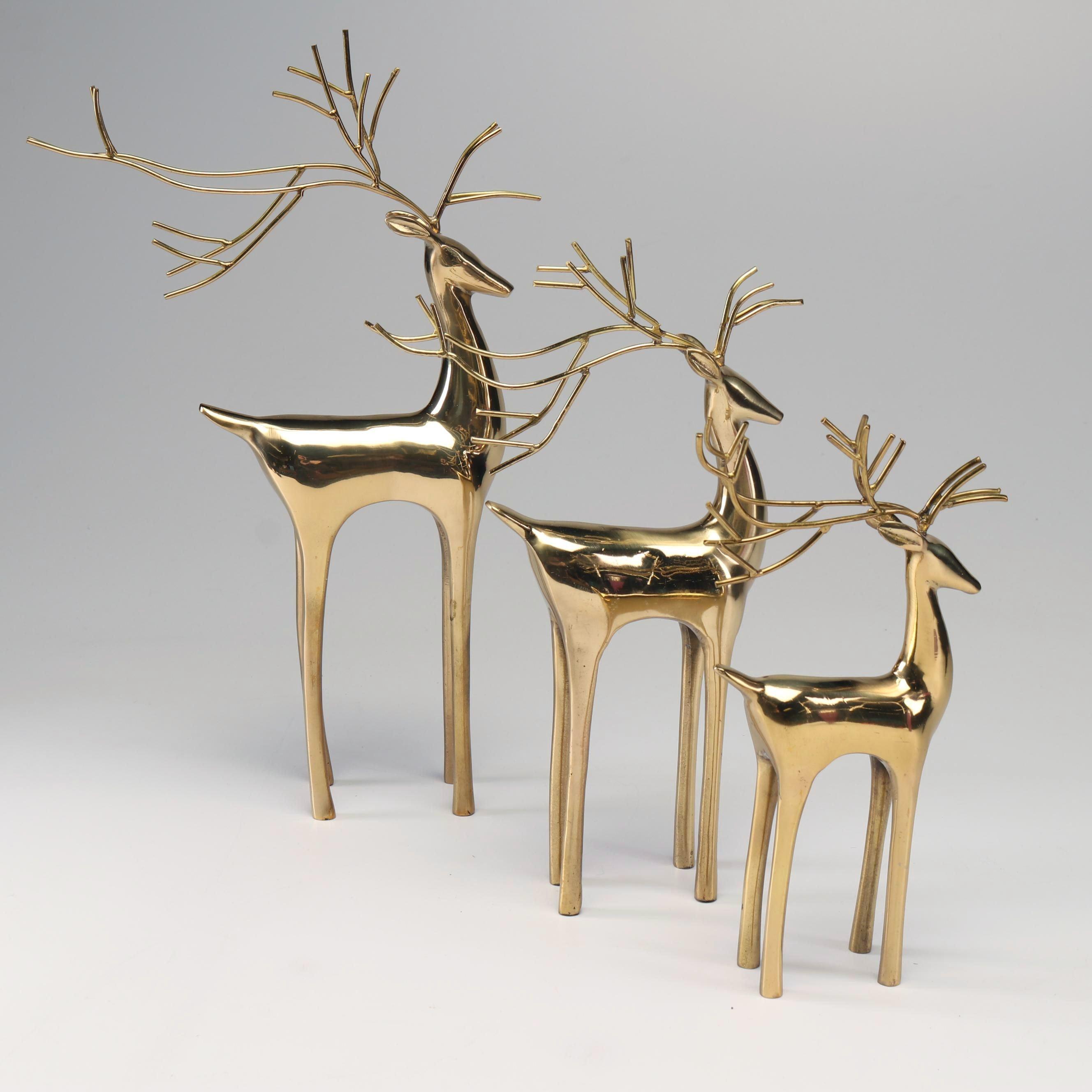 Brass Reindeer Decor