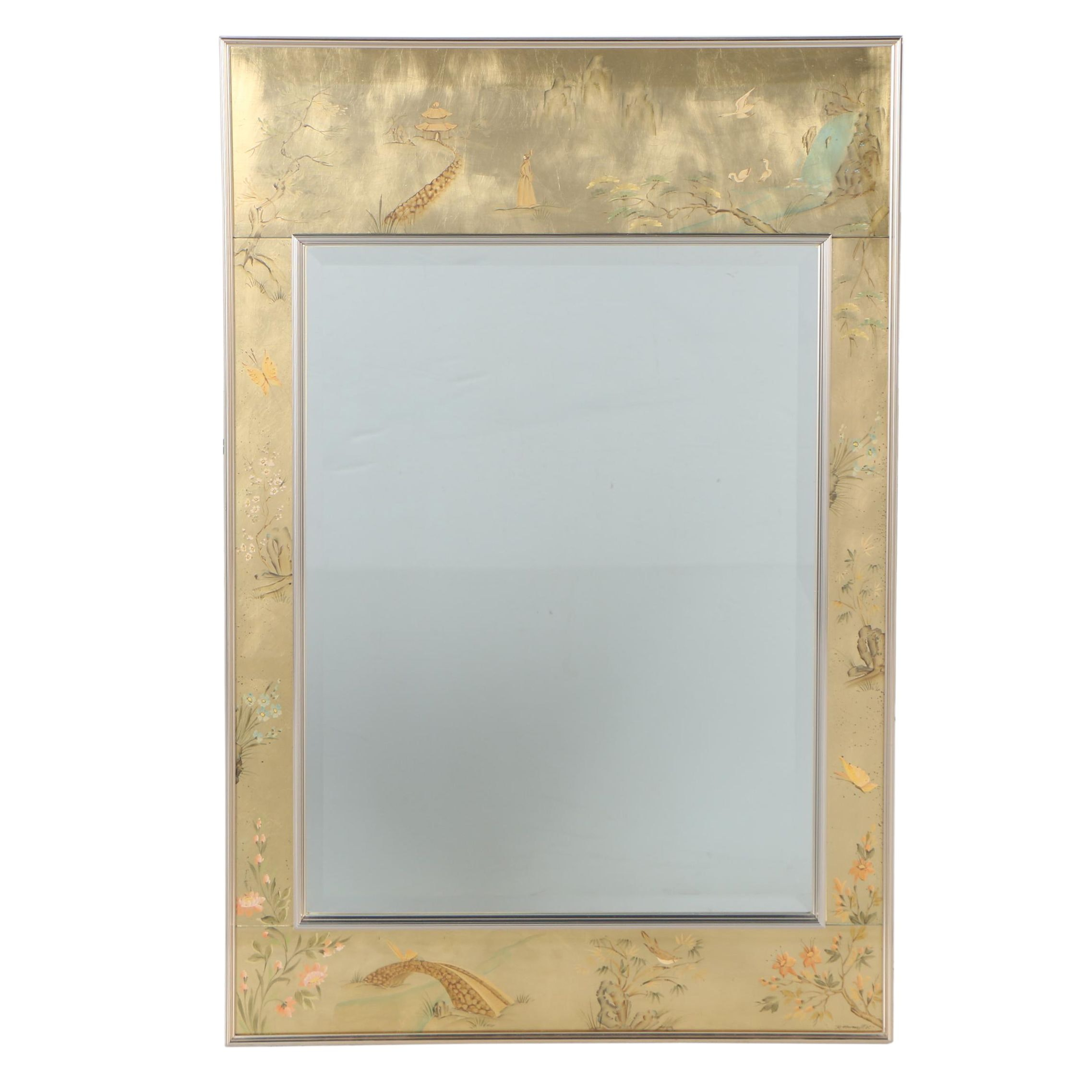 La Barge Chinoiserie Wall Mirror, 1980