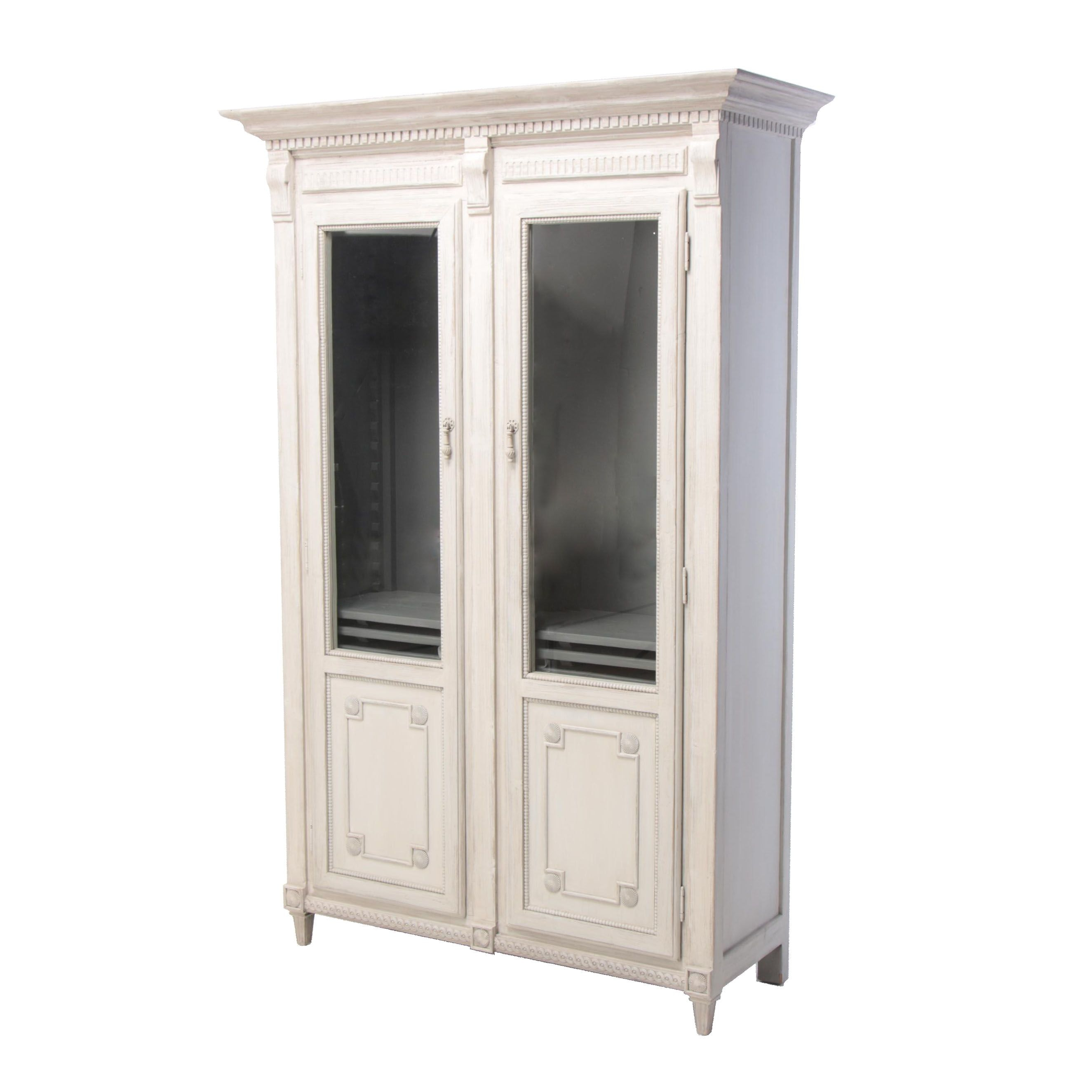 "Continental Style ""Beauvoir"" Painted Pine China Cabinet"