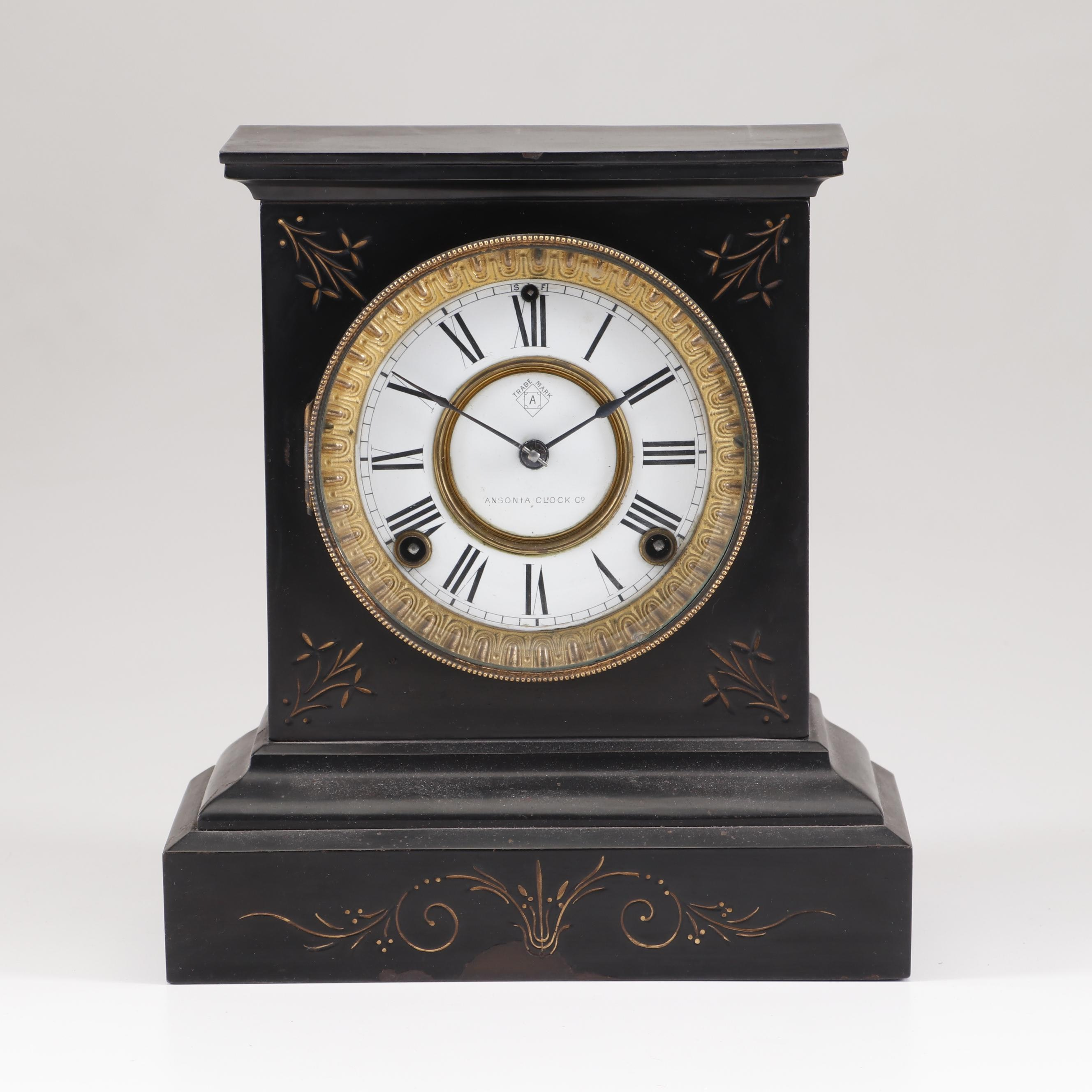Ansonia Iron Mantel Clock, Late 19th to Early 20th Century