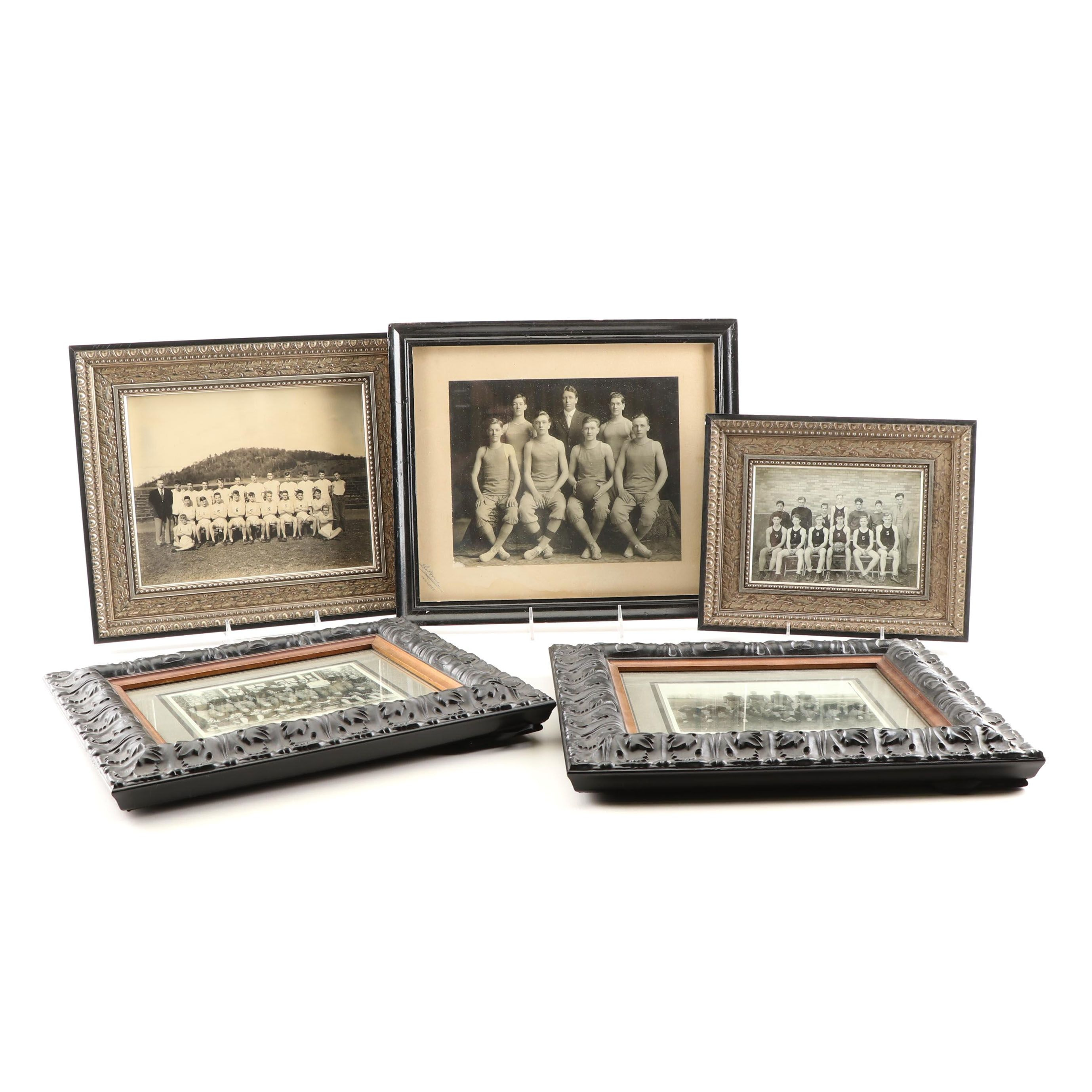 Vintage Photograph of Men's Athletic Teams