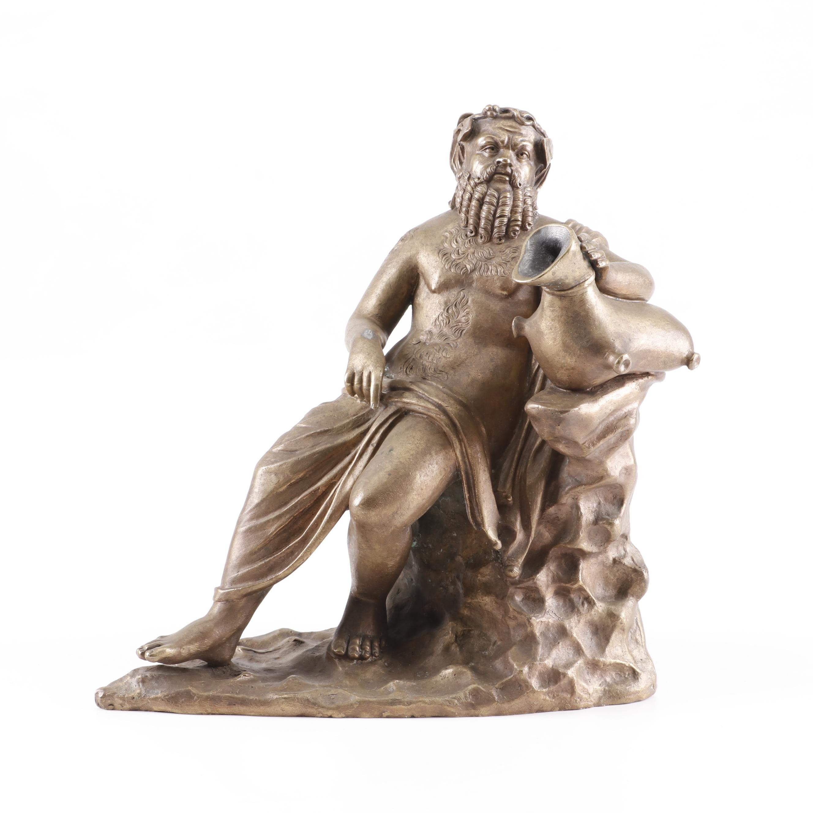 Classical Style Bronze Figural Water Fountain