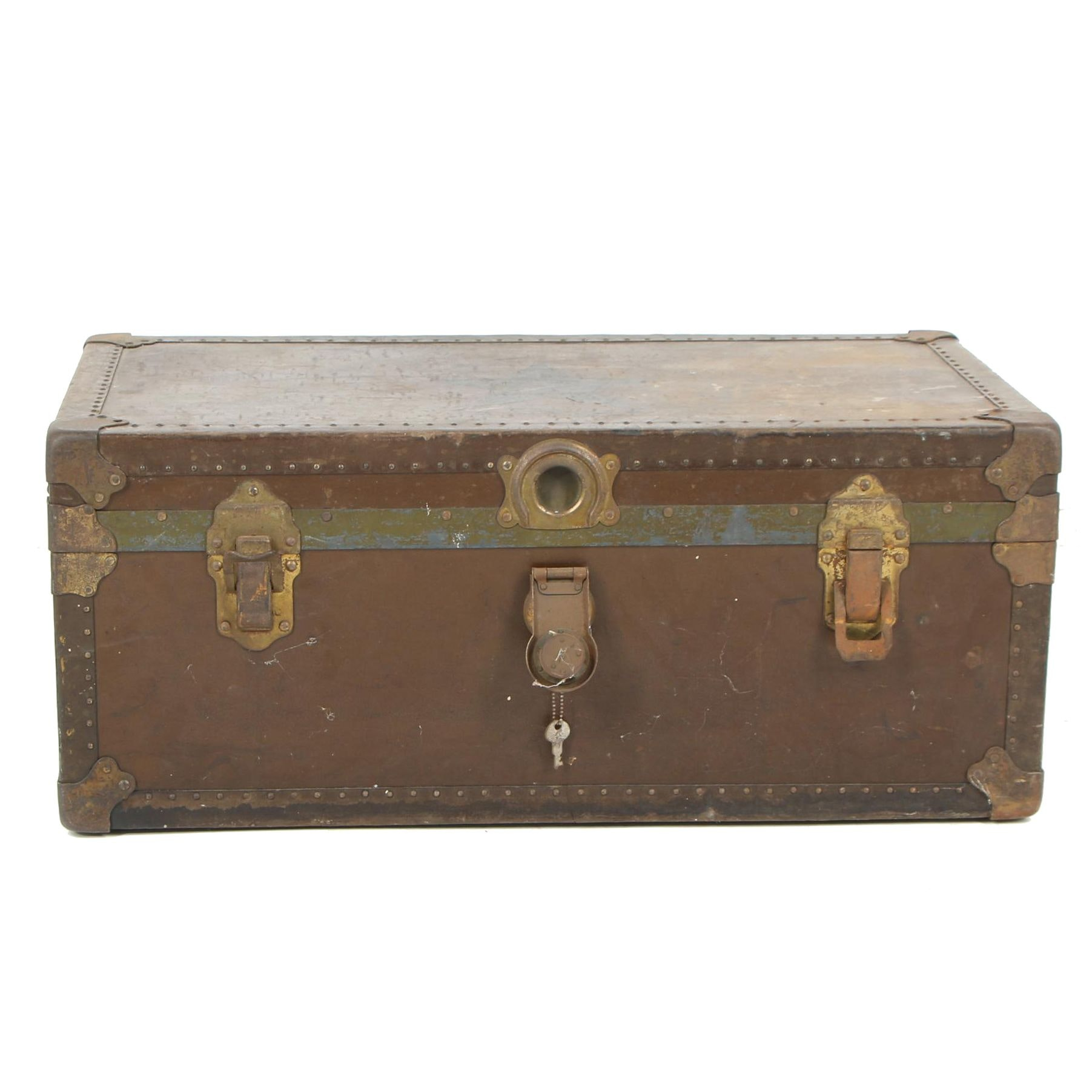U.S. Naval Reserve Force Wood and Metal Storage Trunk, Early 20th Century