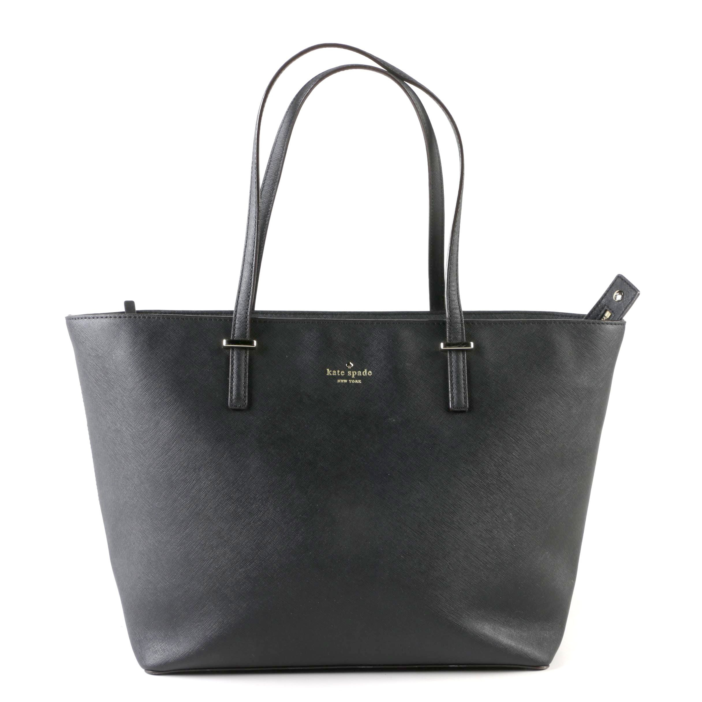 Kate Spade New York Black Saffiano Leather Tote Bag