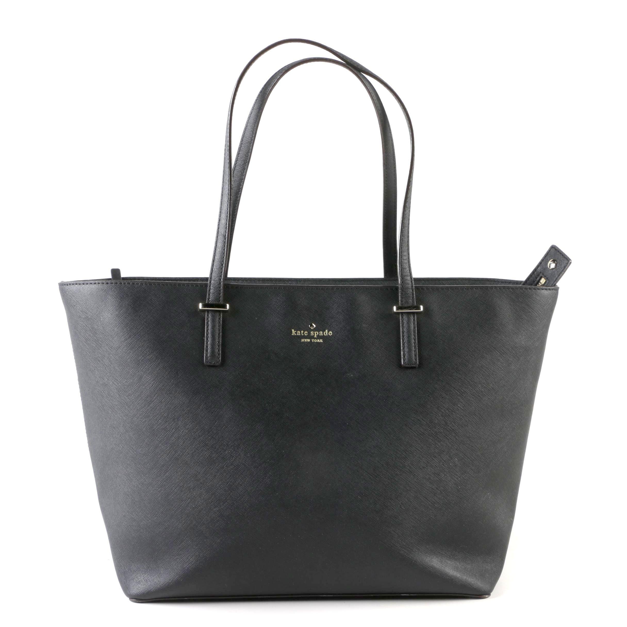 Kate Spade Black Saffiano Leather Tote Bag