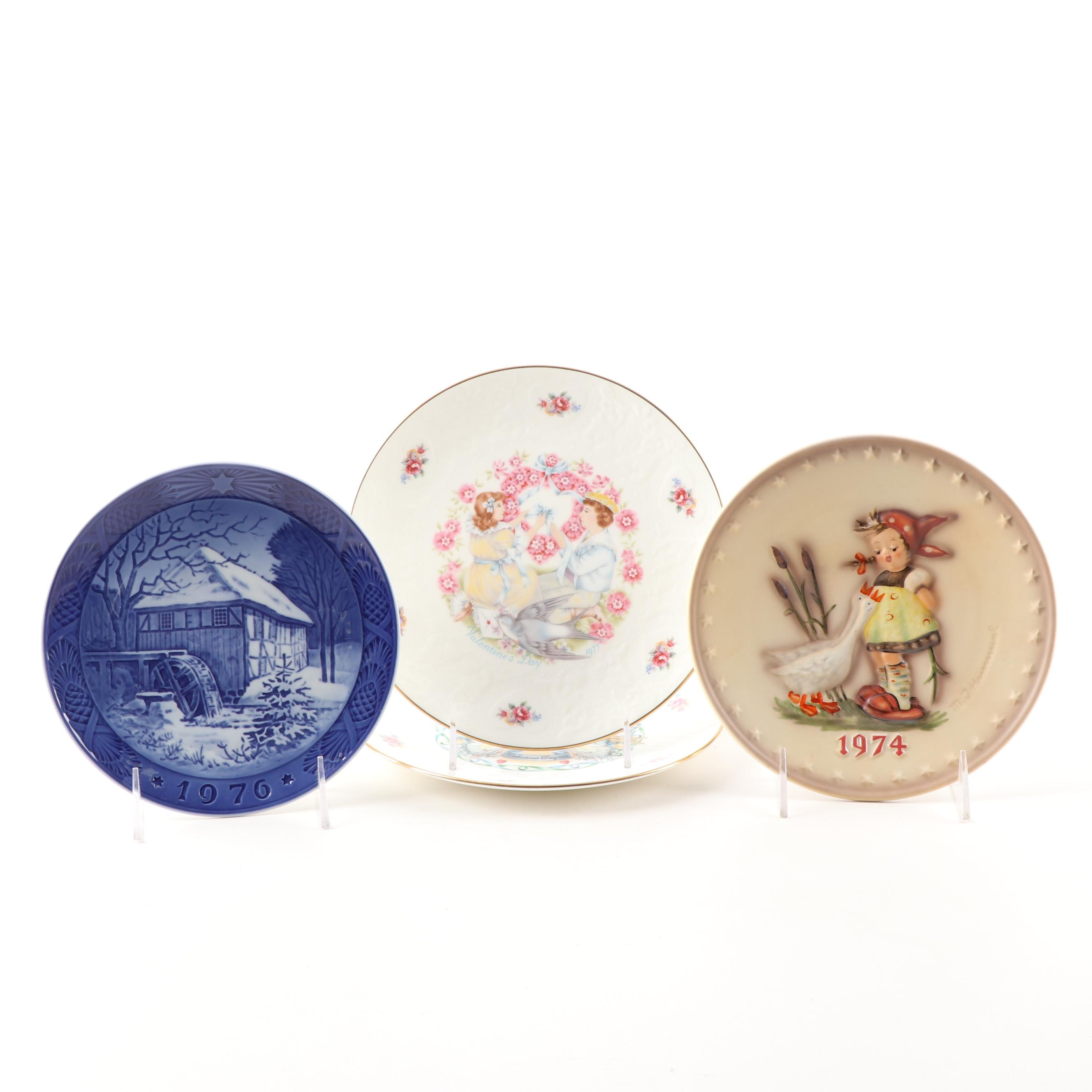 Porcelain Collector Plates by Royal Copenhagen and Royal Doulton