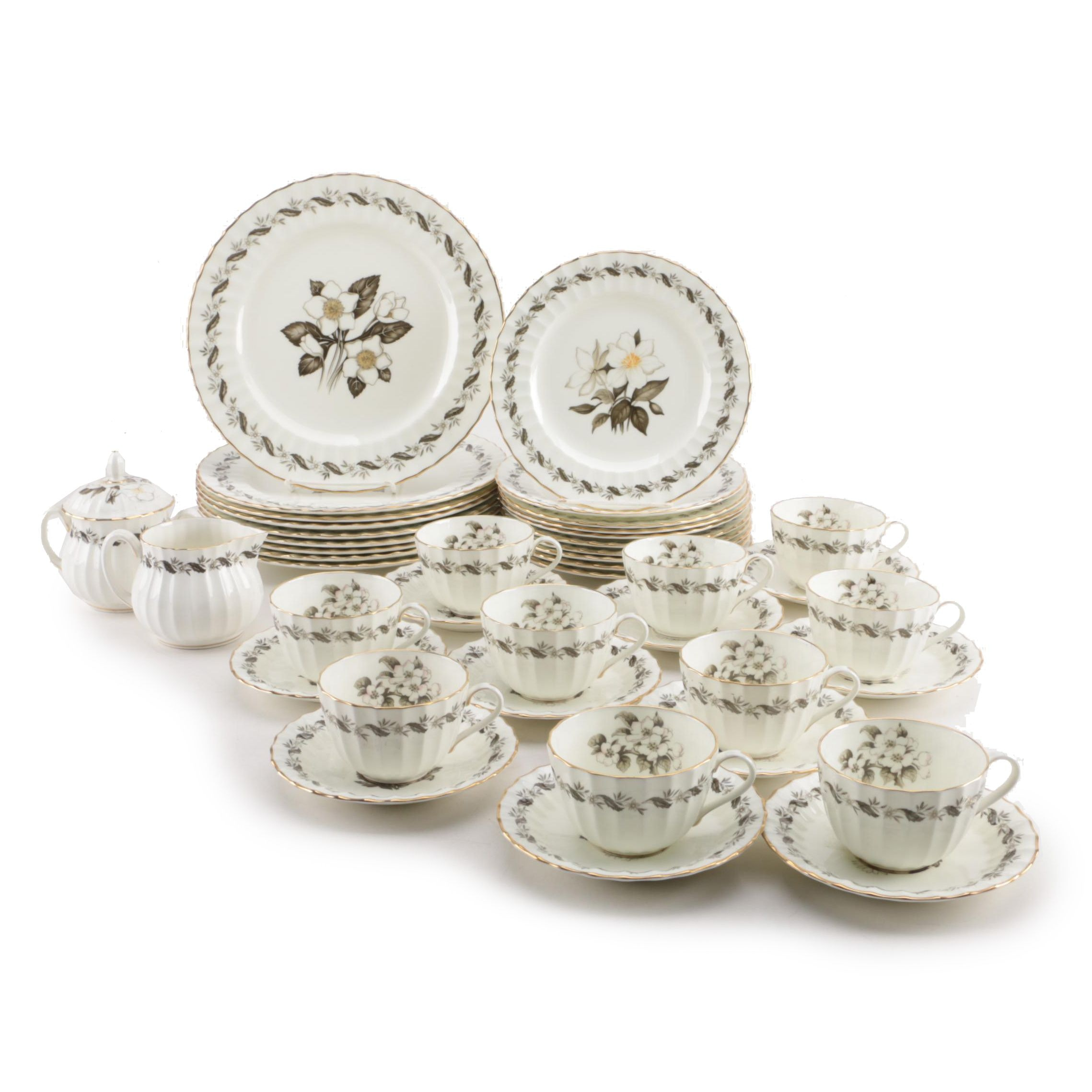 "Royal Worcester ""Engadine"" Bone China Dinnerware"
