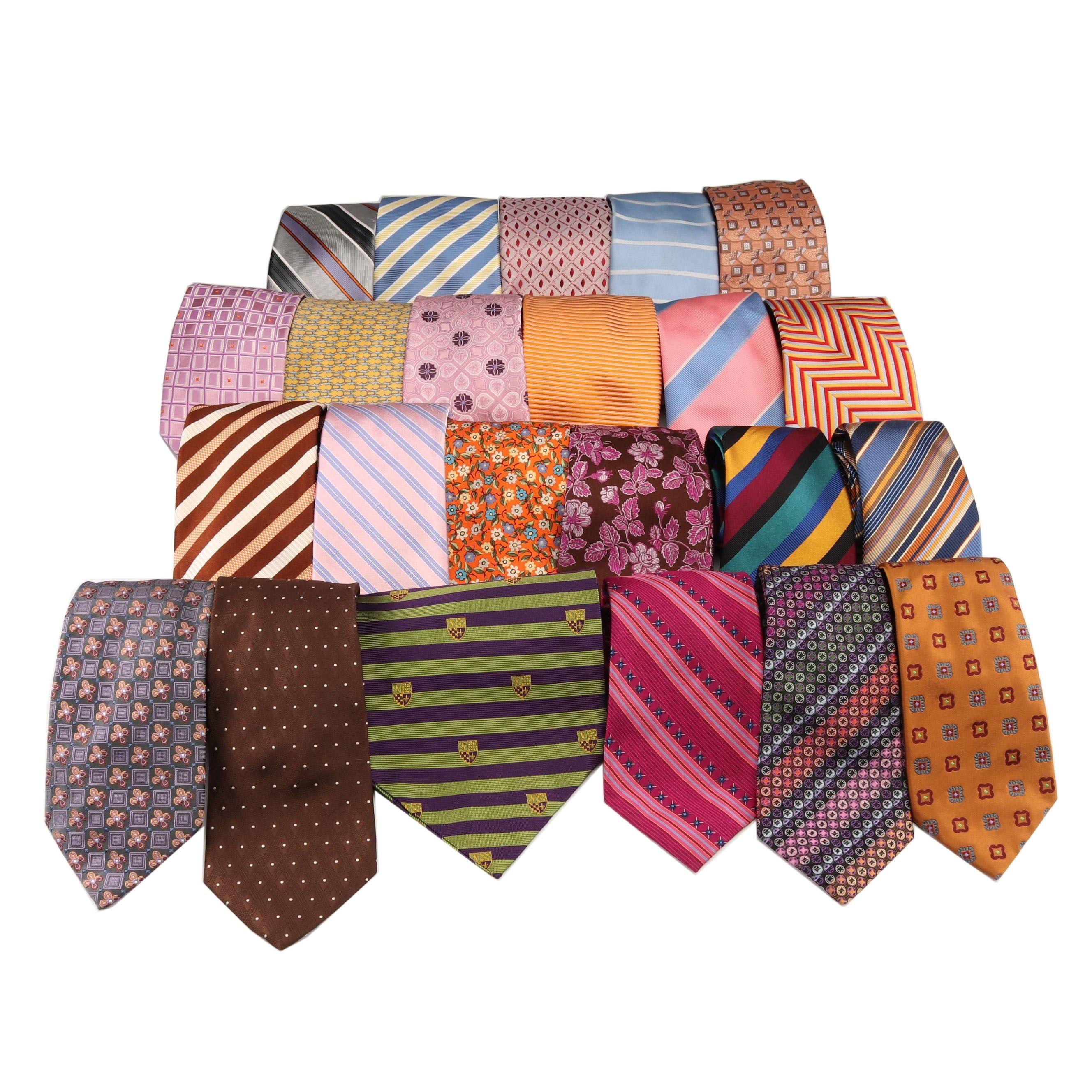 Men's Silk Neckties Including Giorgio Armani, Robert Talbott, and Paul Smith