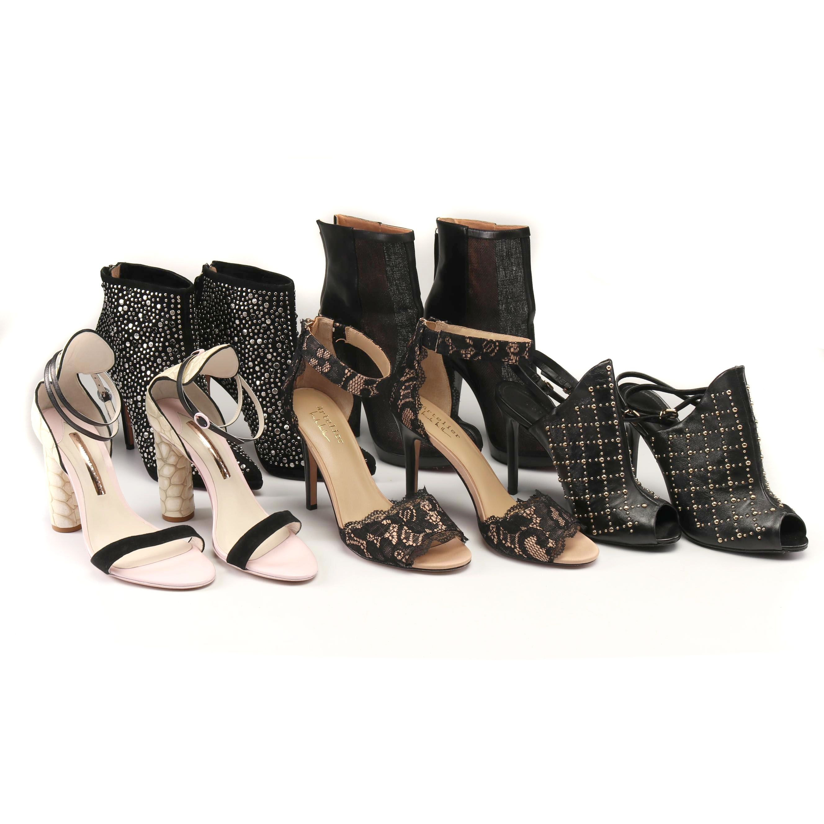 Booties and Ankle Strap High Heels Including Rachel Zoe, and Jean-Michel Cazabat
