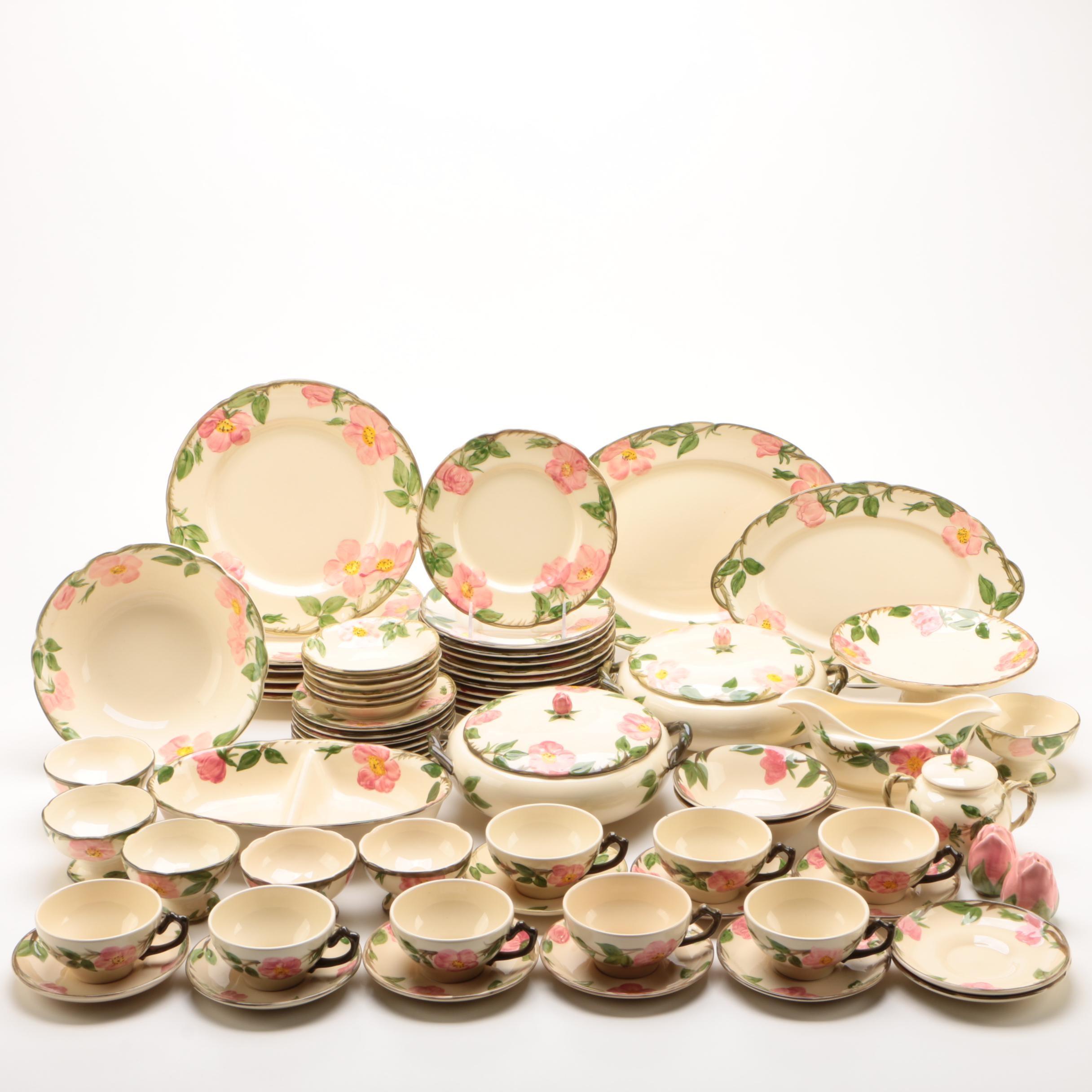 """Franciscan """"Desert Rose"""" Tableware and Serveware"""
