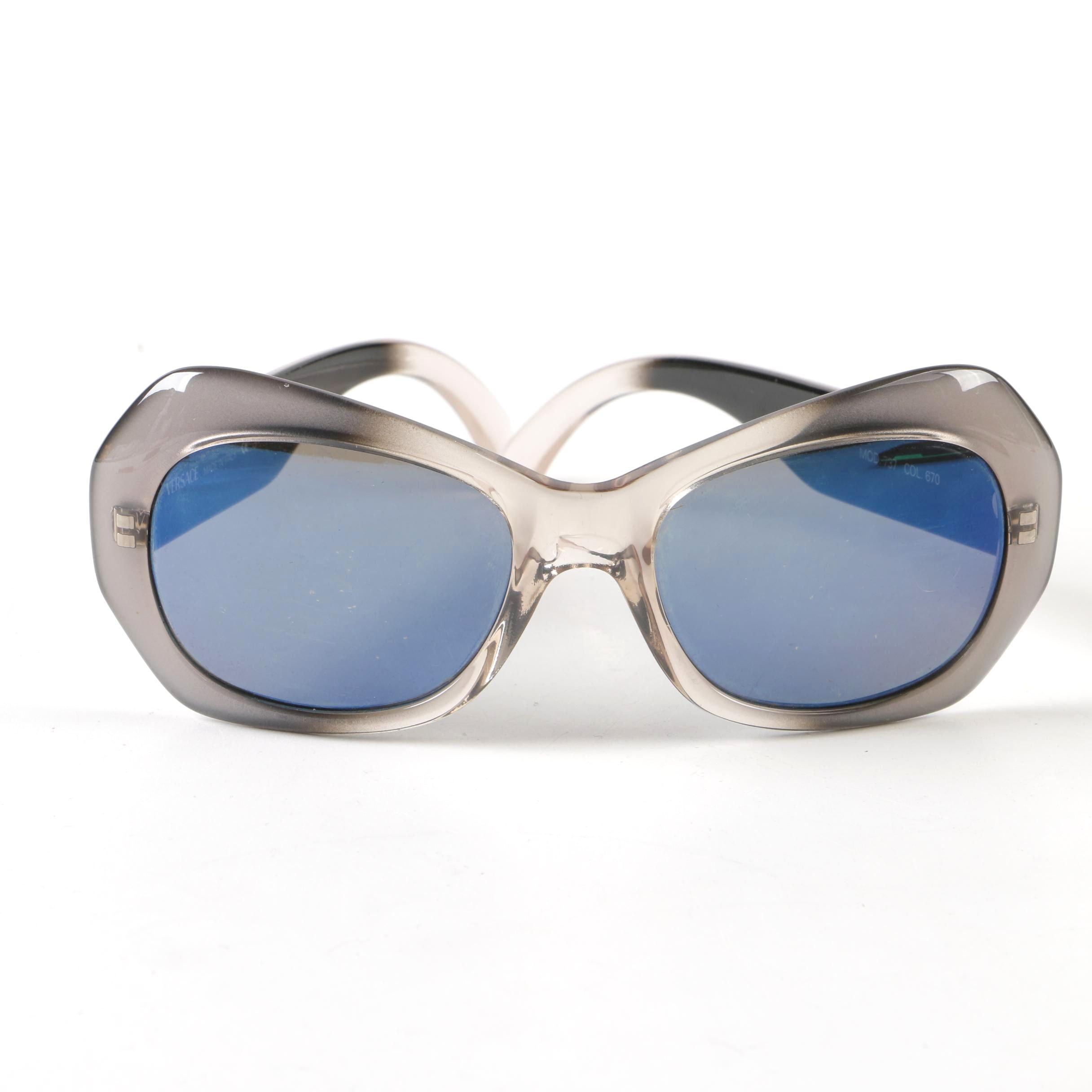 Versace Ombré Modified Cat Eye Sunglasses, Vintage