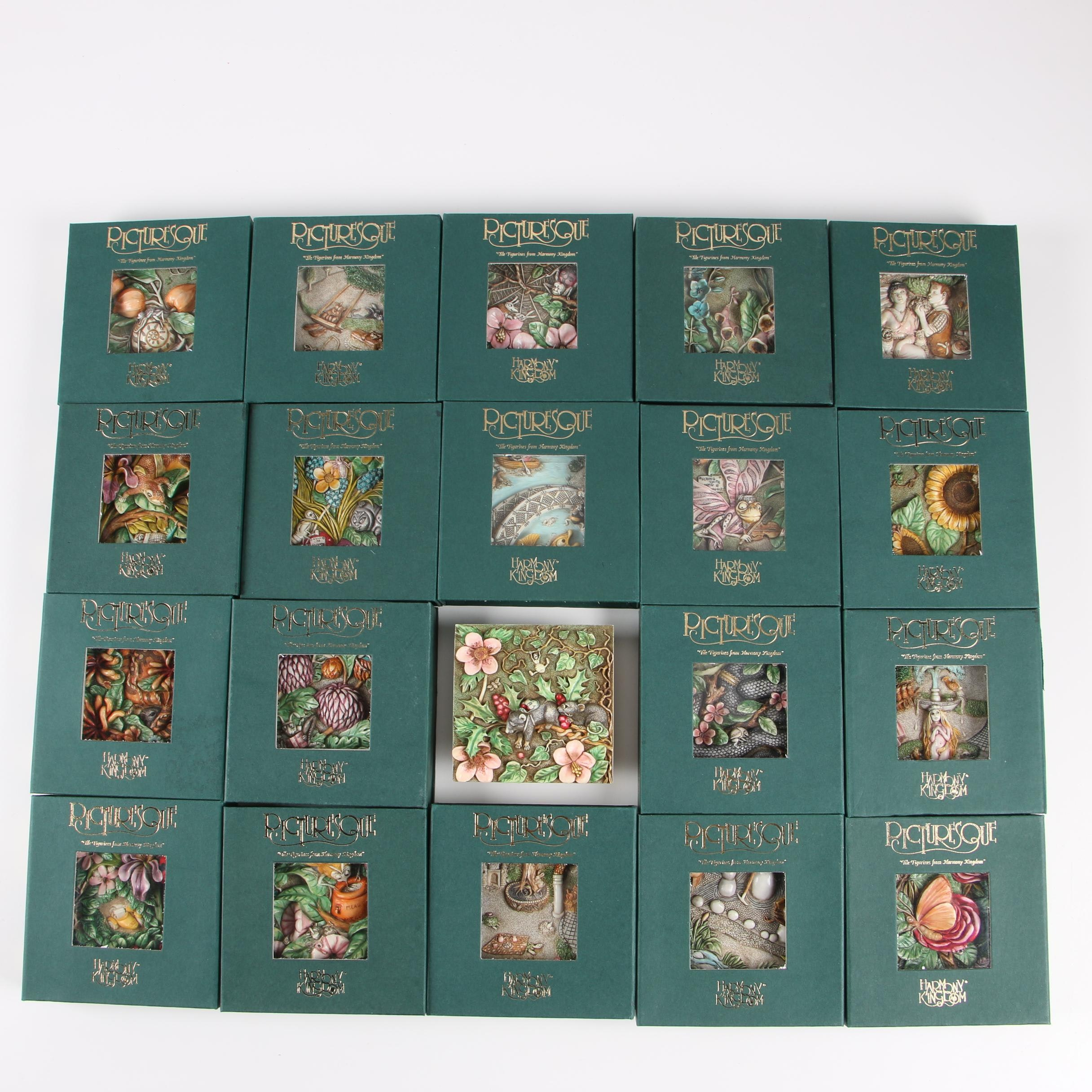 "Harmony Kingdom Picturesque ""Byron's Secret Garden"" Resin Tile Figurines"