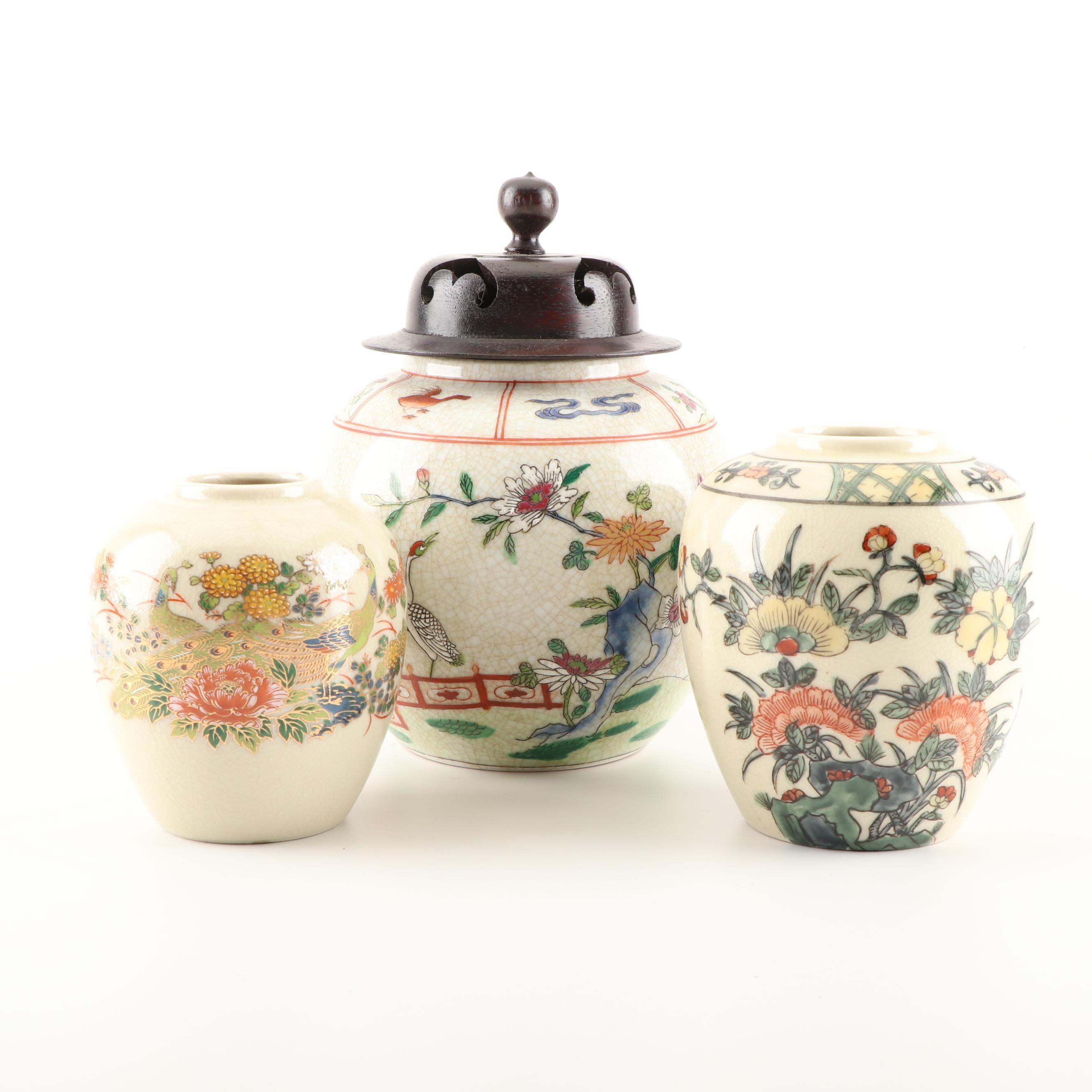 East Asian Ceramic Jars Including Hong Horizons