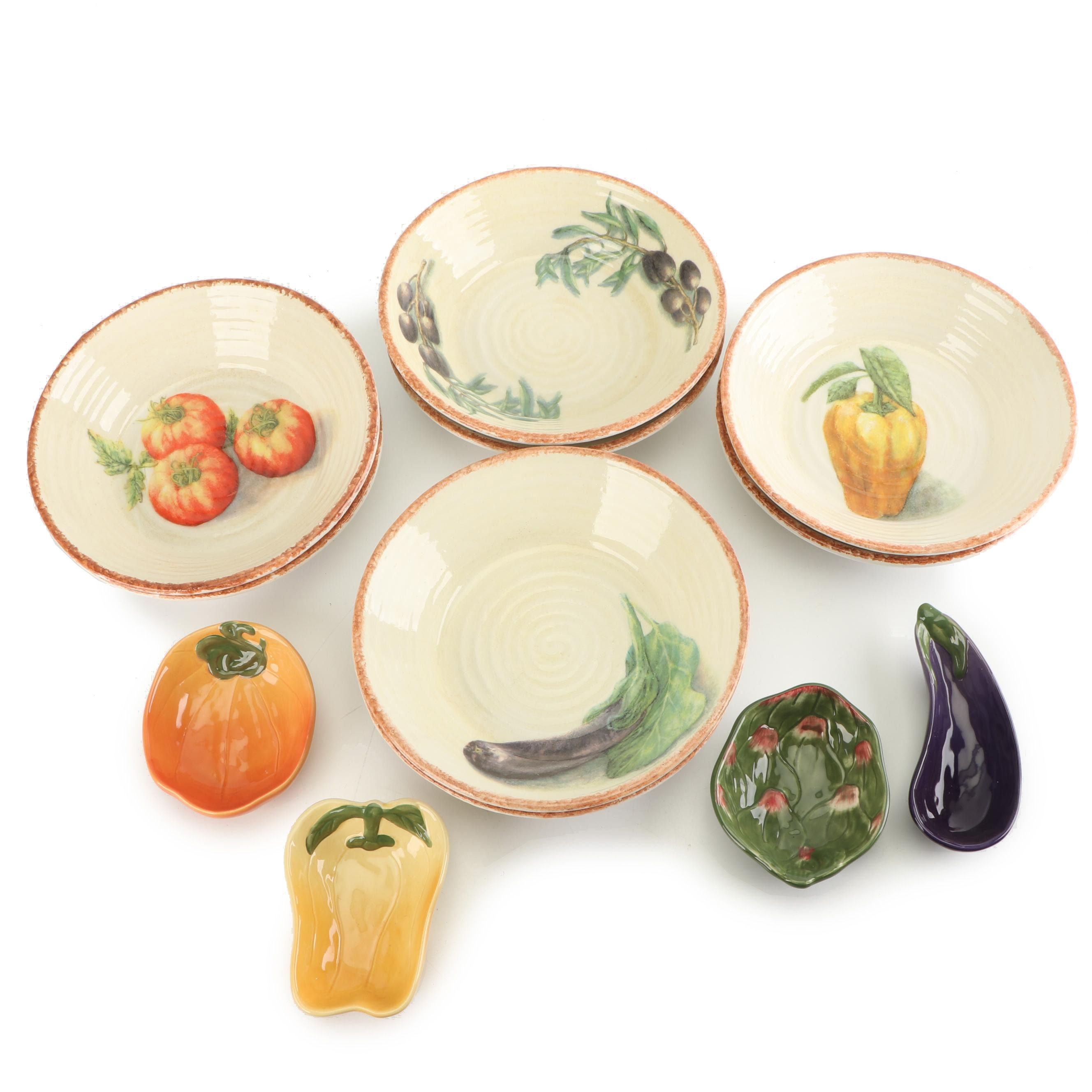 """Williams-Sonoma """"Jardin Potager"""" Salad Bowls and Collection Dishes"""