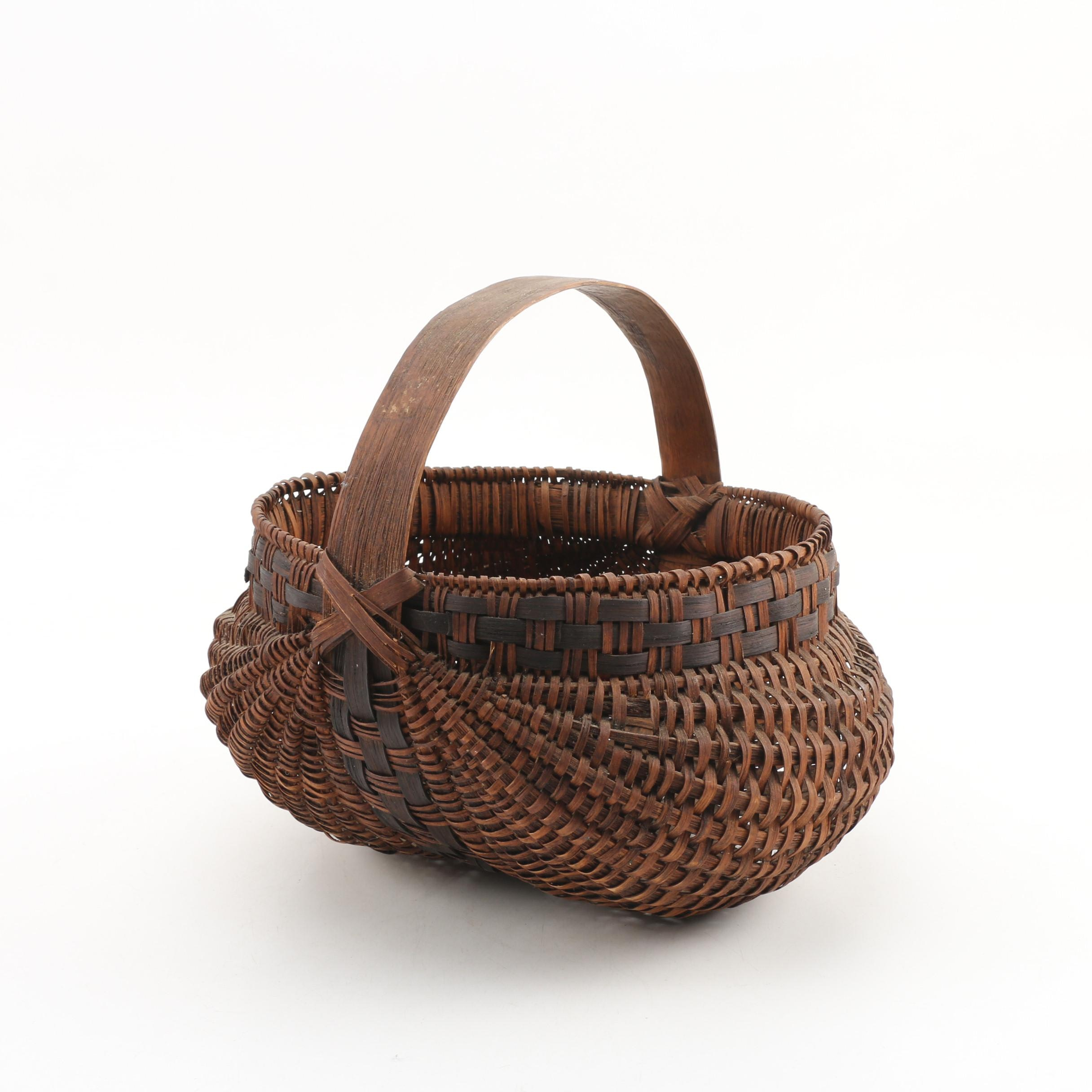 Late 19th Century Hand Made Buttocks Basket