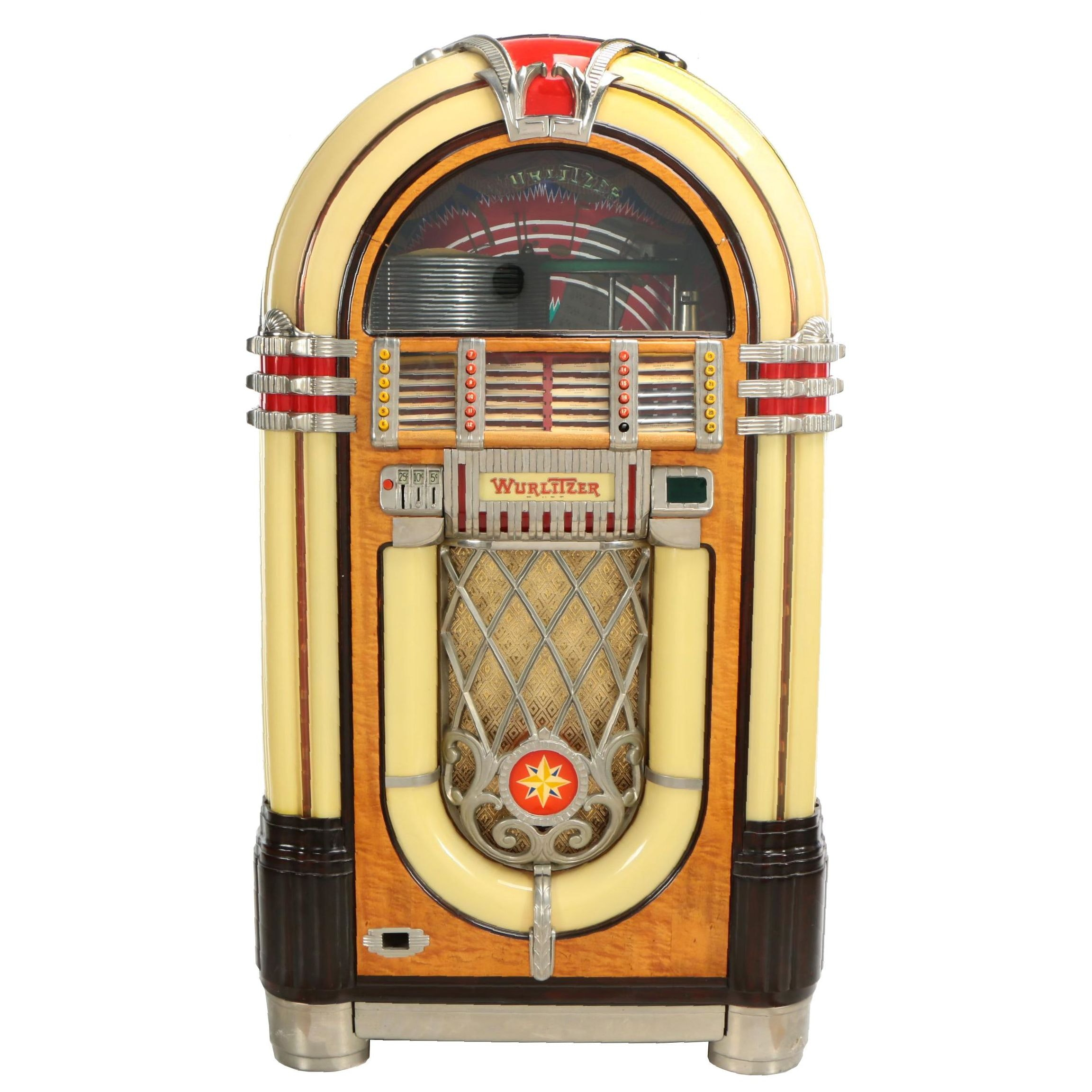 Wurlitzer 1015 Walnut and Acrylic Jukebox, 1946