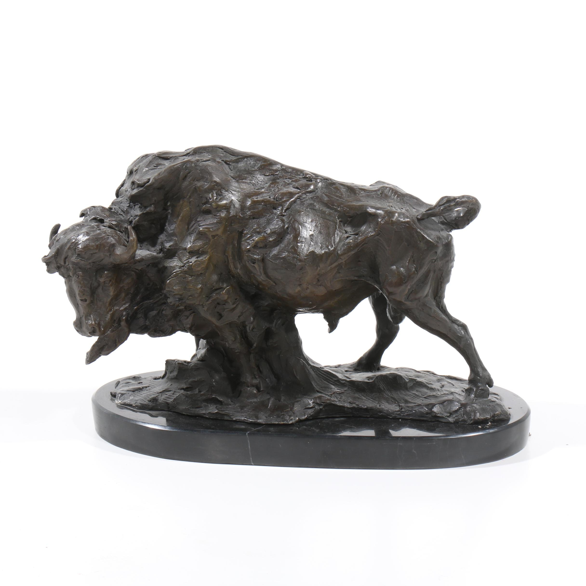 Bison Bronze Sculpture
