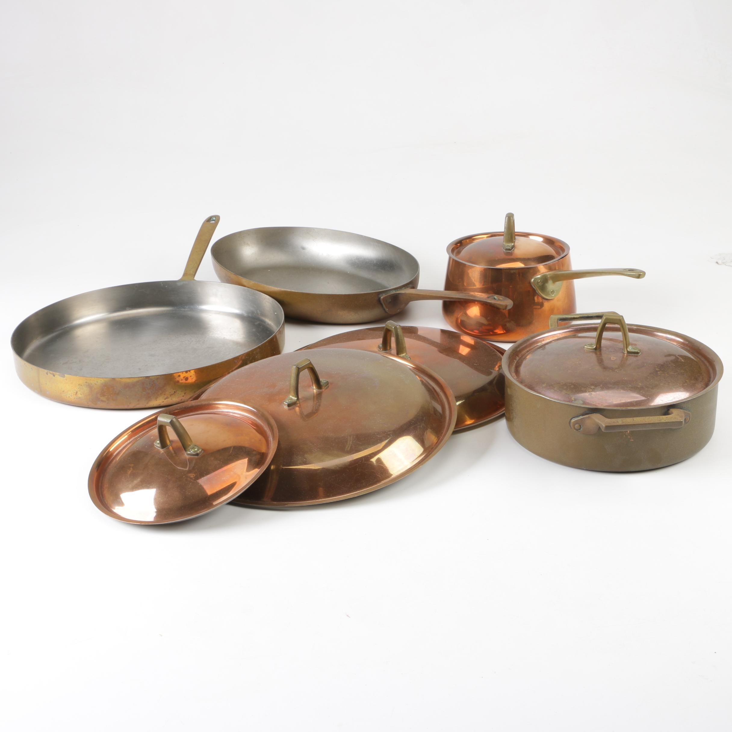 Paul Revere Copper Cookware, Limited Edition Sauce Pot and Lids