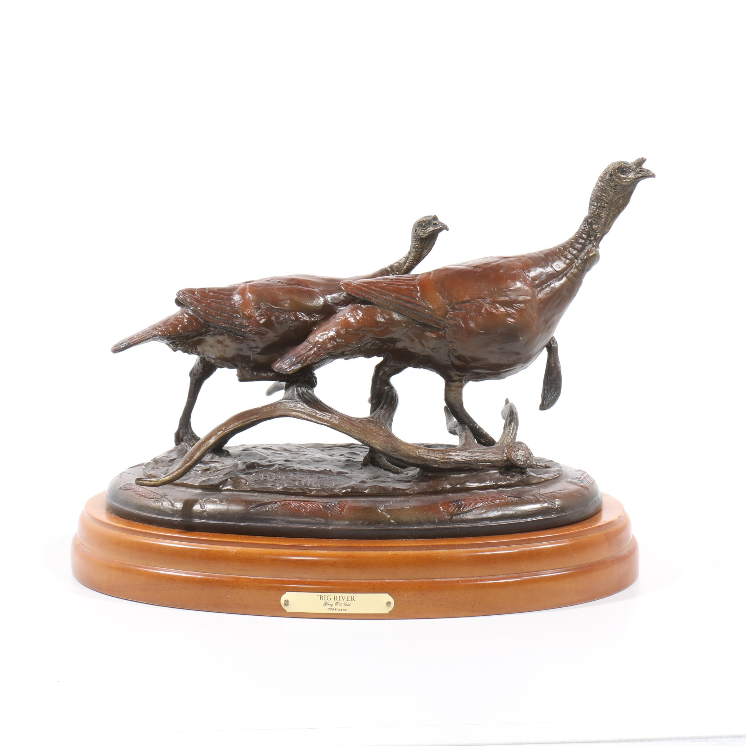 "Greg O'Neal Bronze Sculpture ""Big River"""
