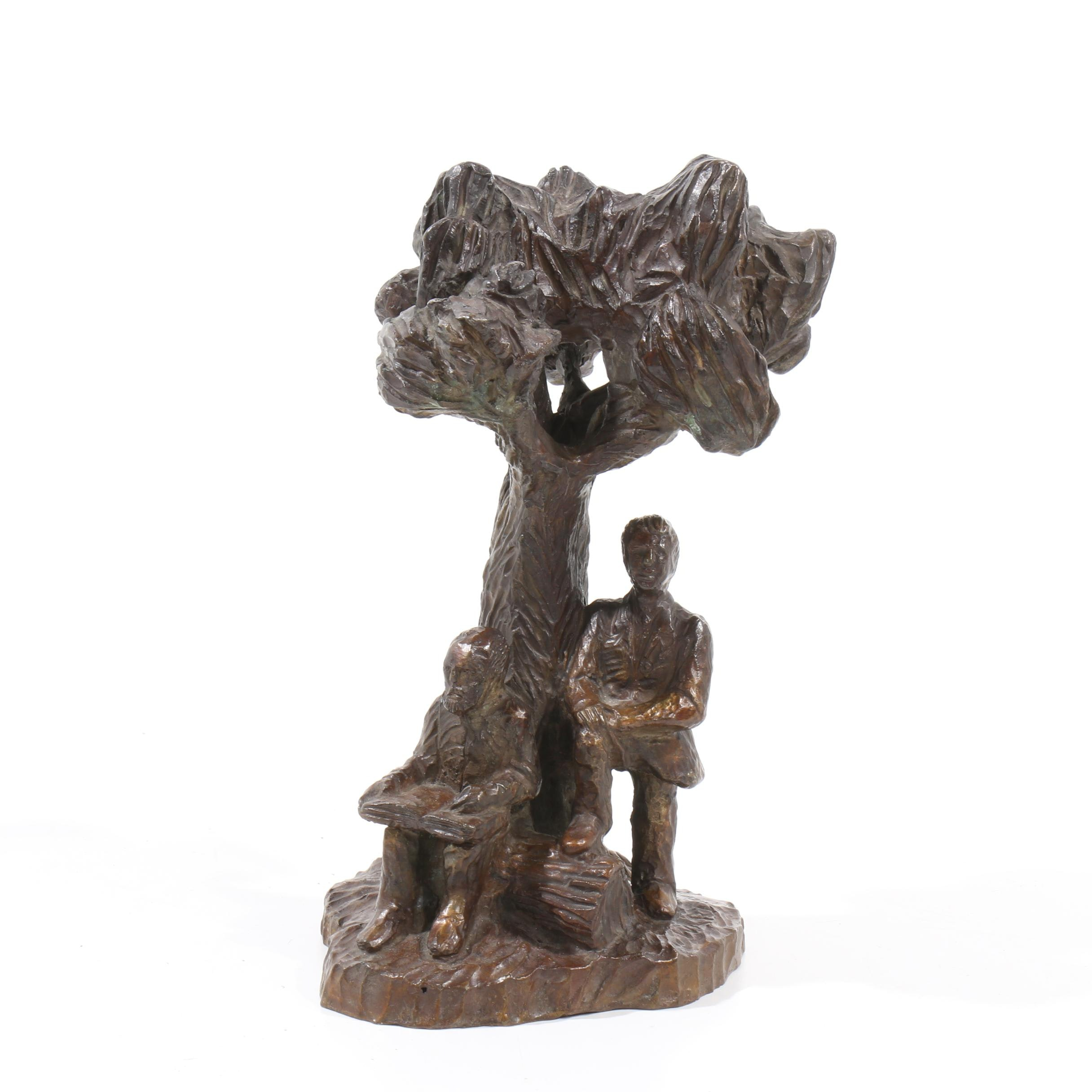 "R. Scott Bronze Sculpture after Jerry Ward ""Educational Oak"""