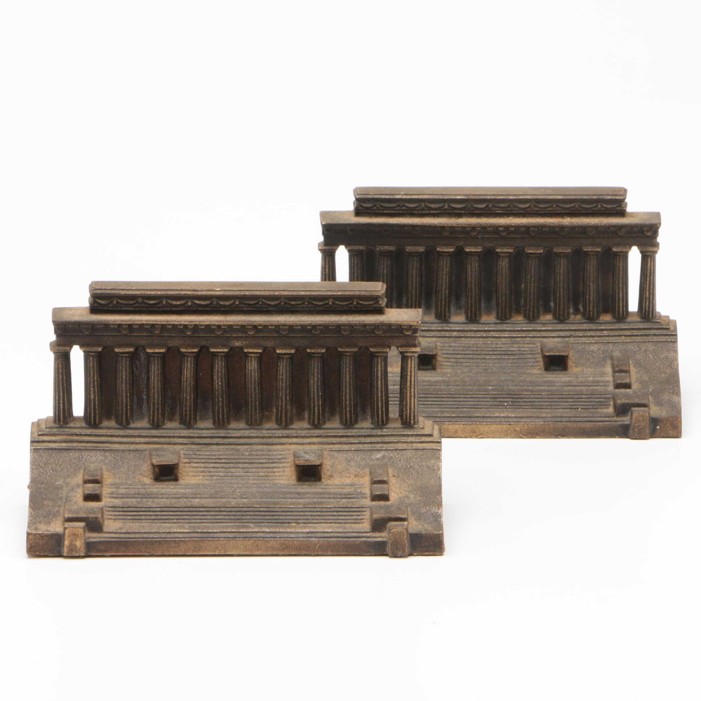 Bradley & Hubbard Lincoln Memorial Bookends, Early 20th Century