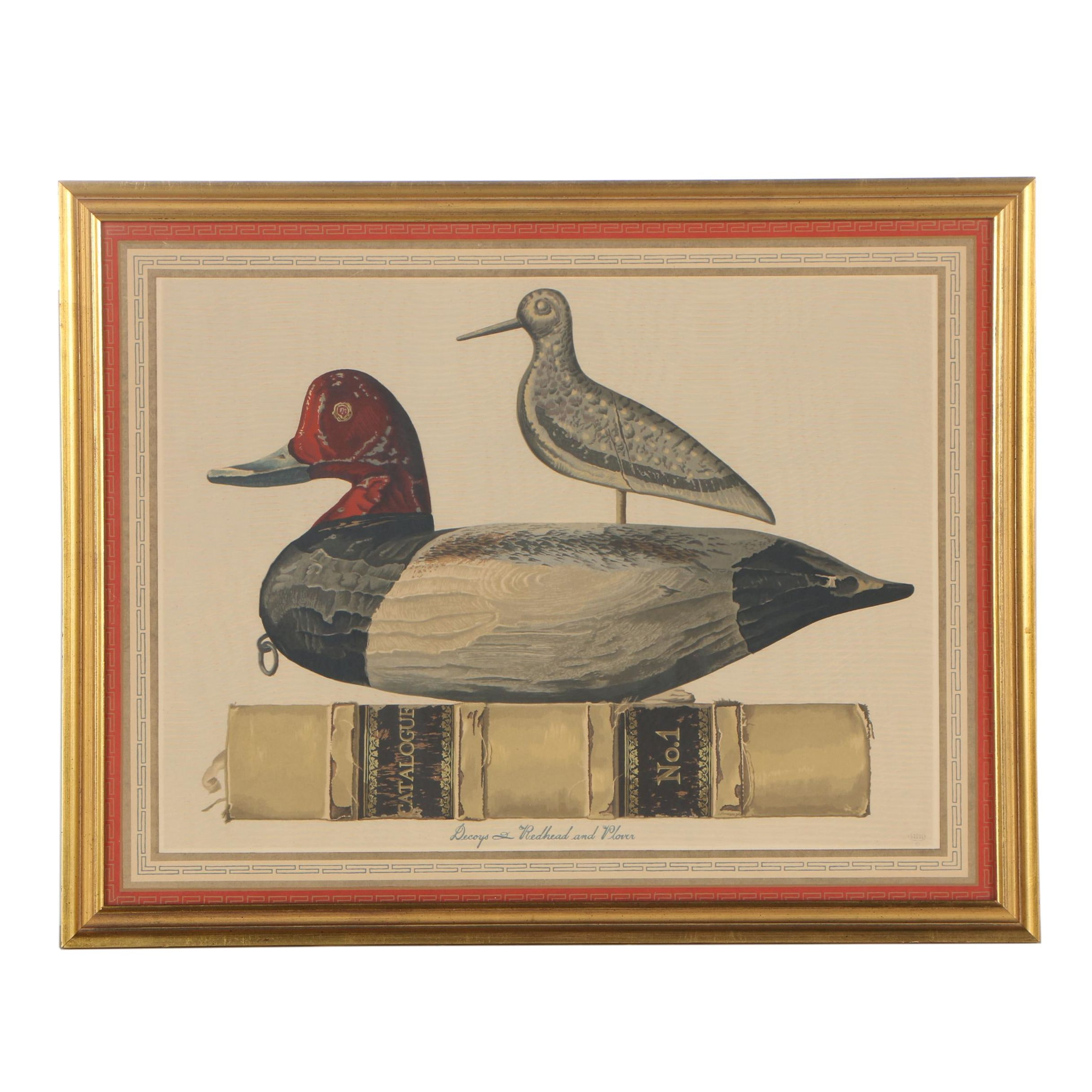 "20th Century Serigraph after Allen Saalburg ""Decoys & Redhead and Plover"""